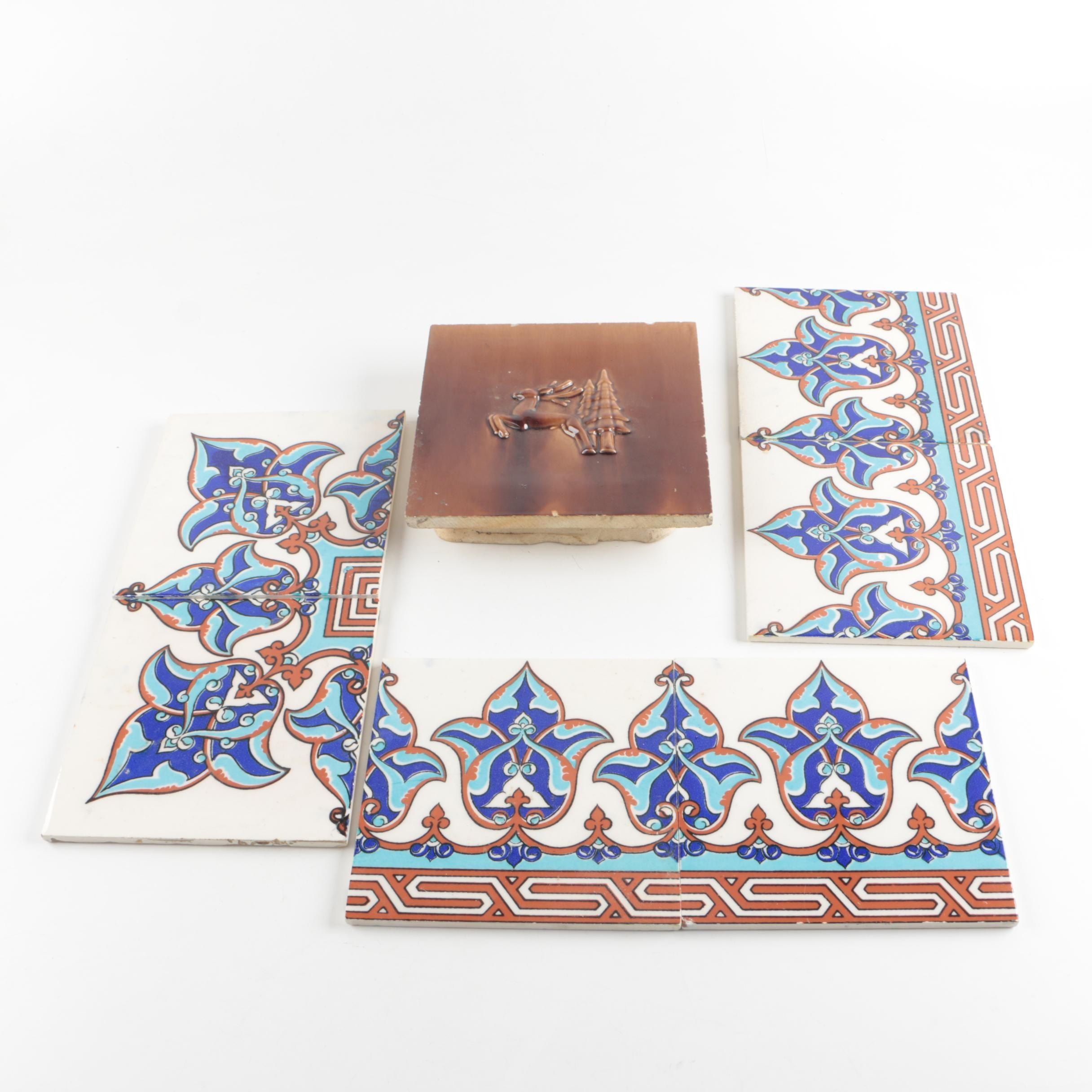 Decorative Tiles featuring Turkish Kutahya