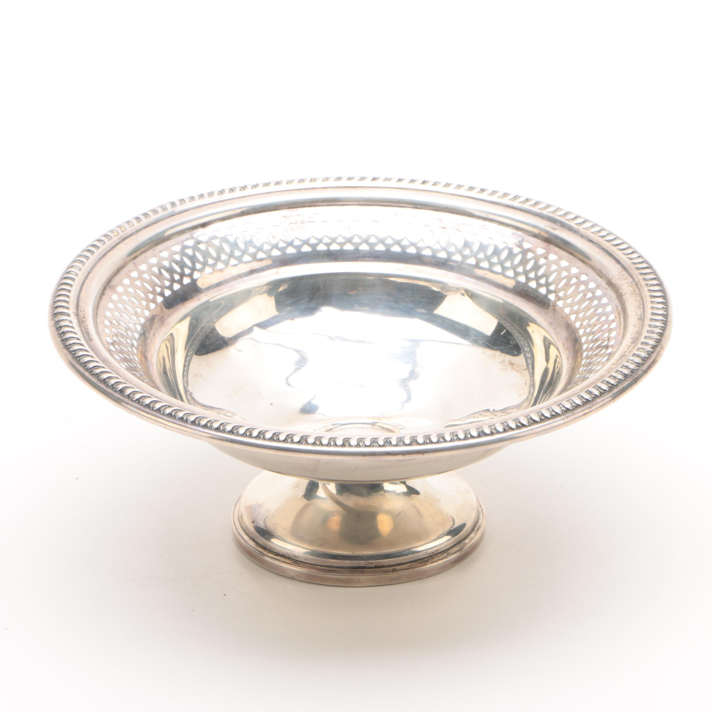 National Weighted Sterling Silver Reticulated Compote