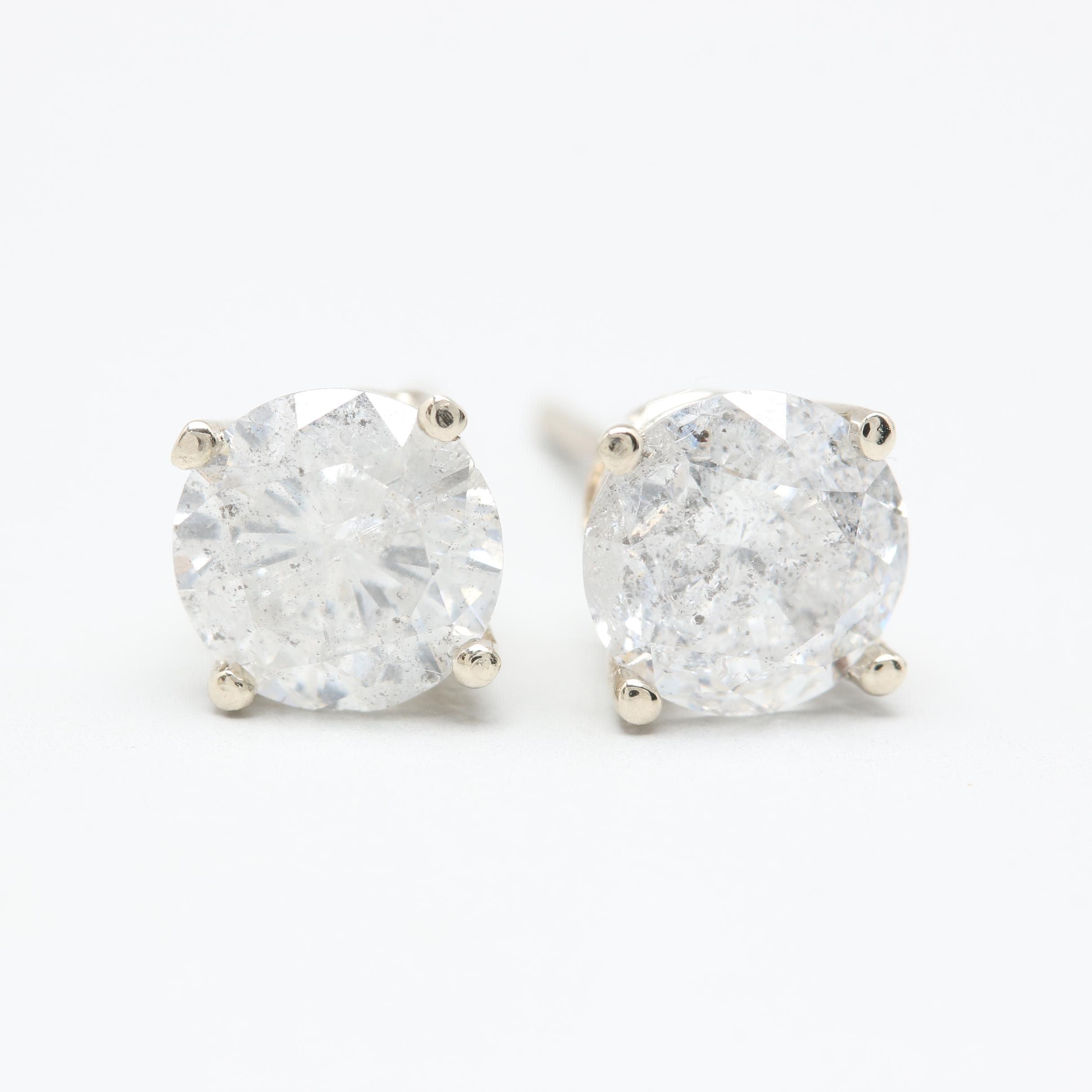 14K White Gold 1.60 CTW Diamond Studs