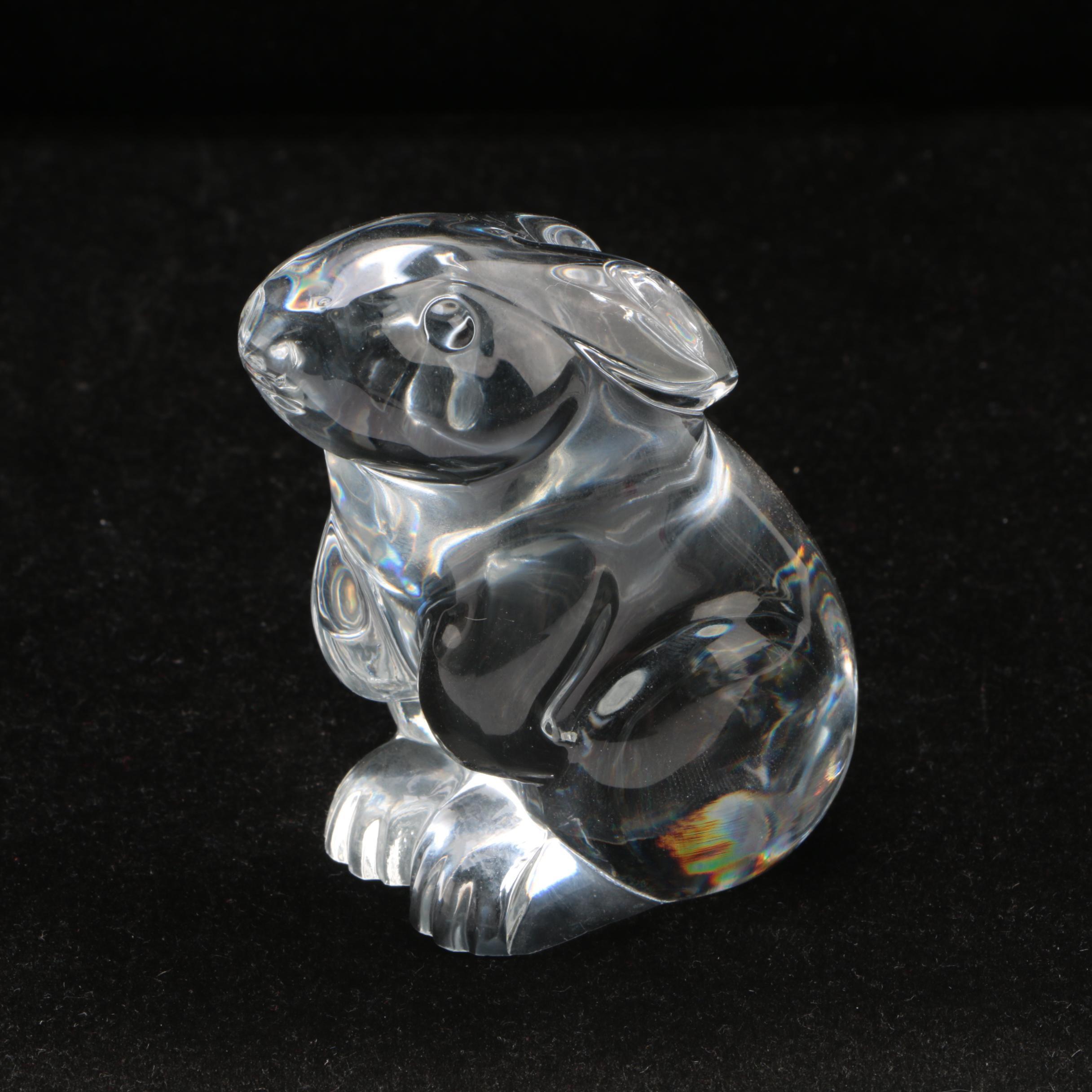 "Baccarat Crystal ""Rabbit Sitting"" Figurine"