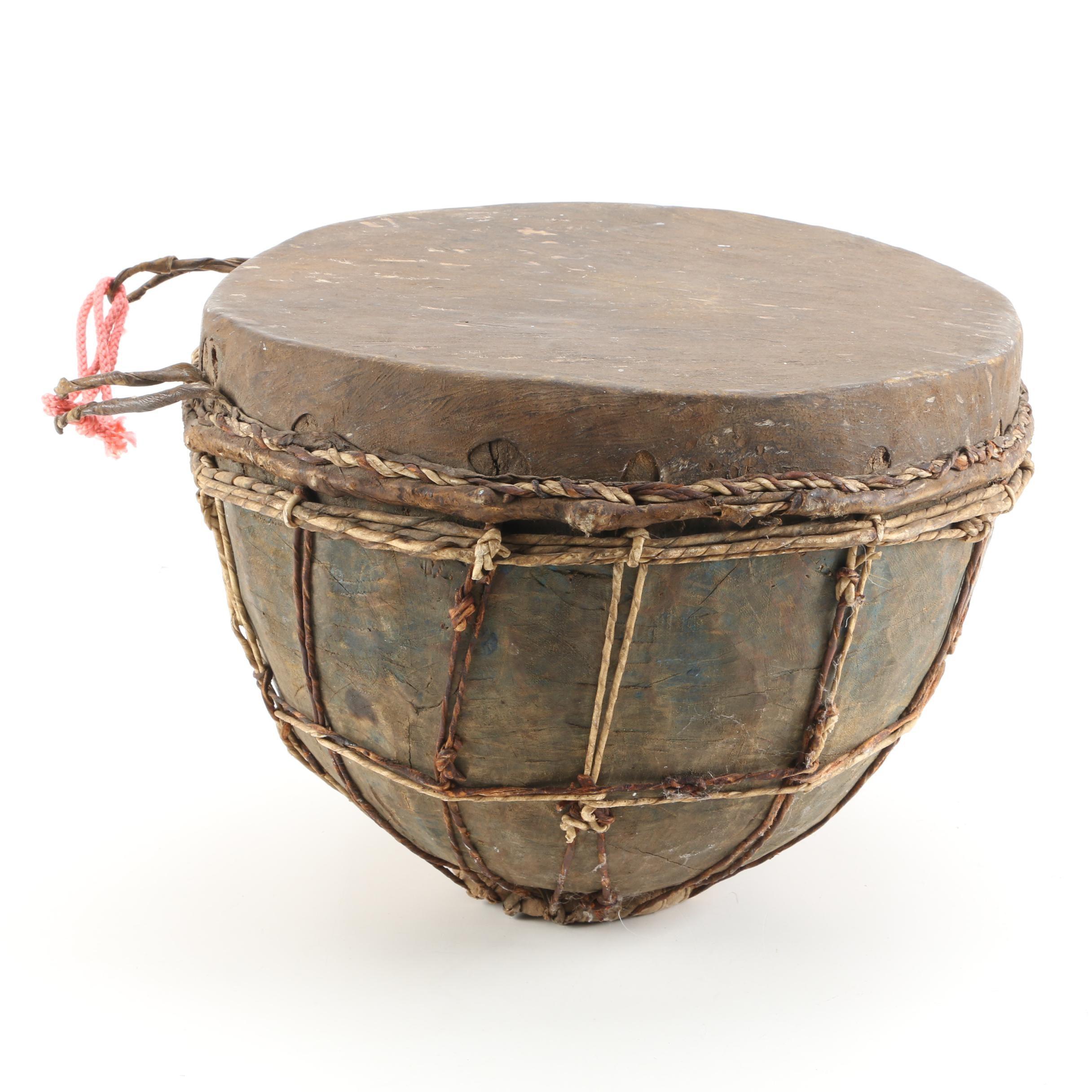 Handmade African Style Hide Drum