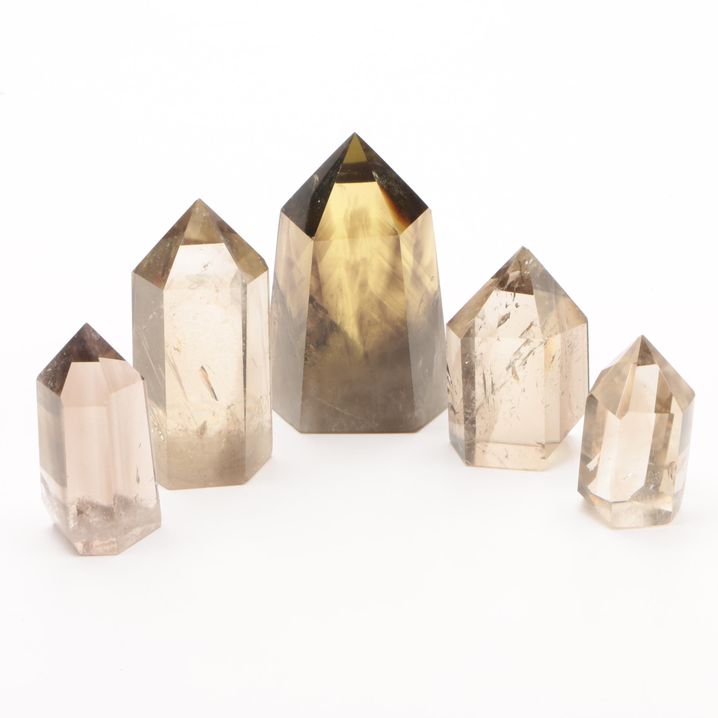 Cut Smoky Quartz Specimens