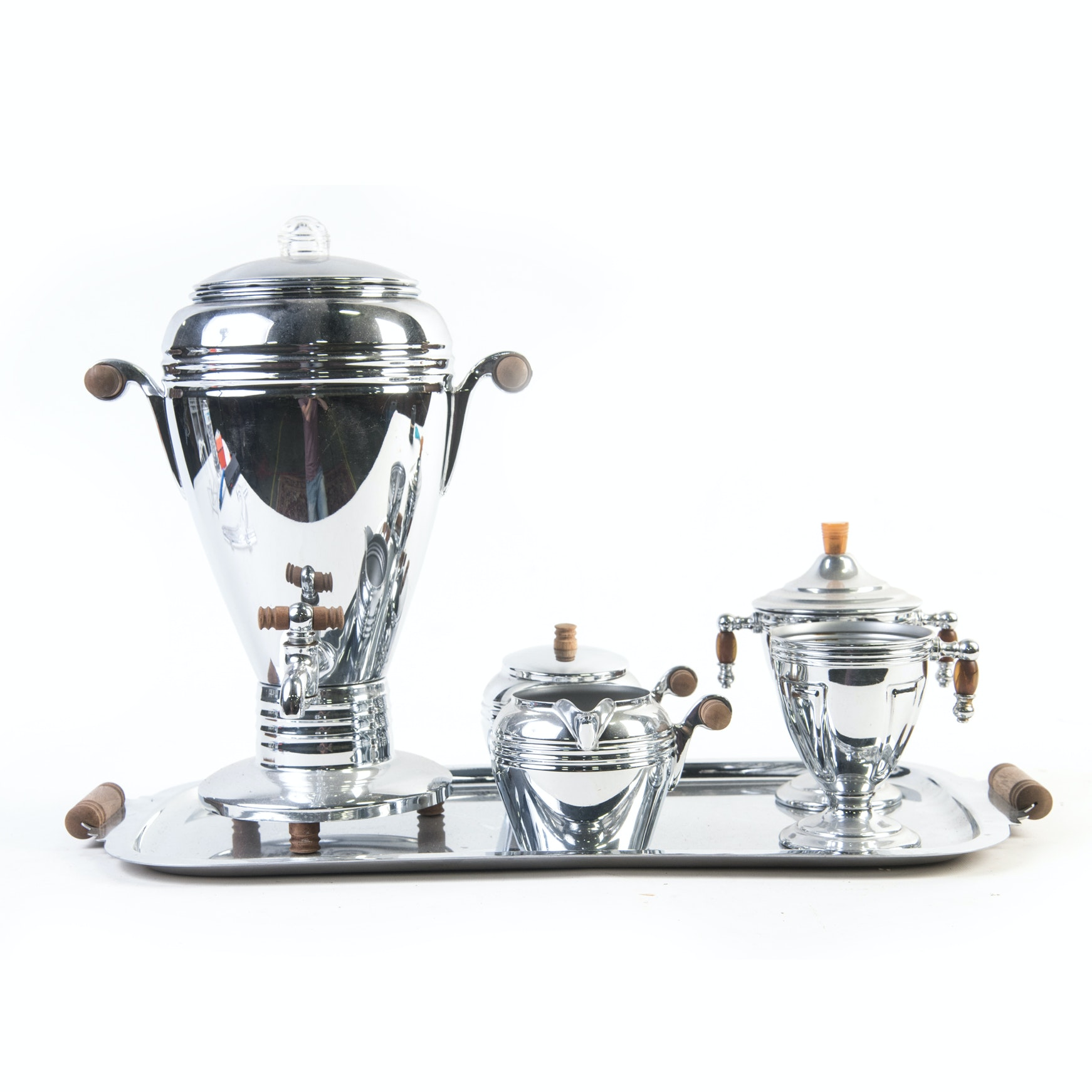 Vintage General Electric Hotpoint Plated Chrome Coffee Service Set