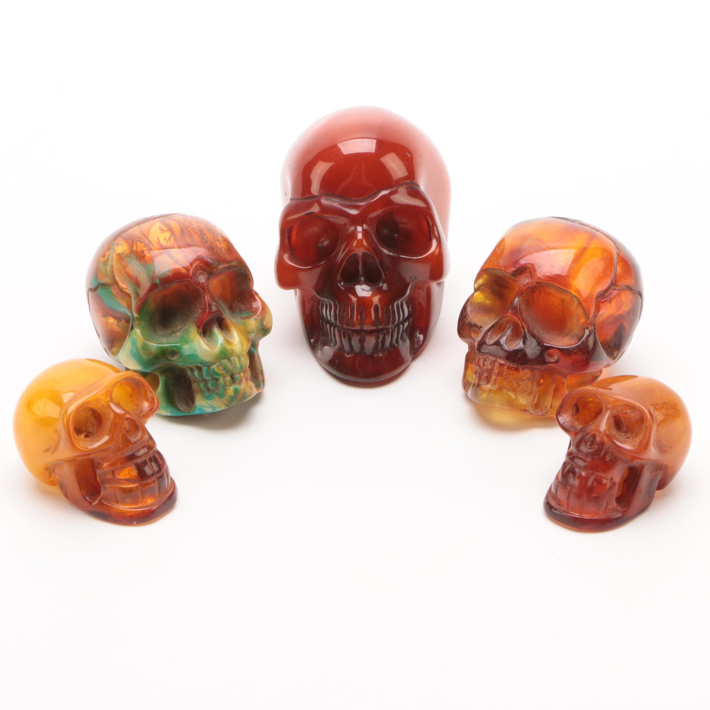 Miniature Cast Resin Skulls