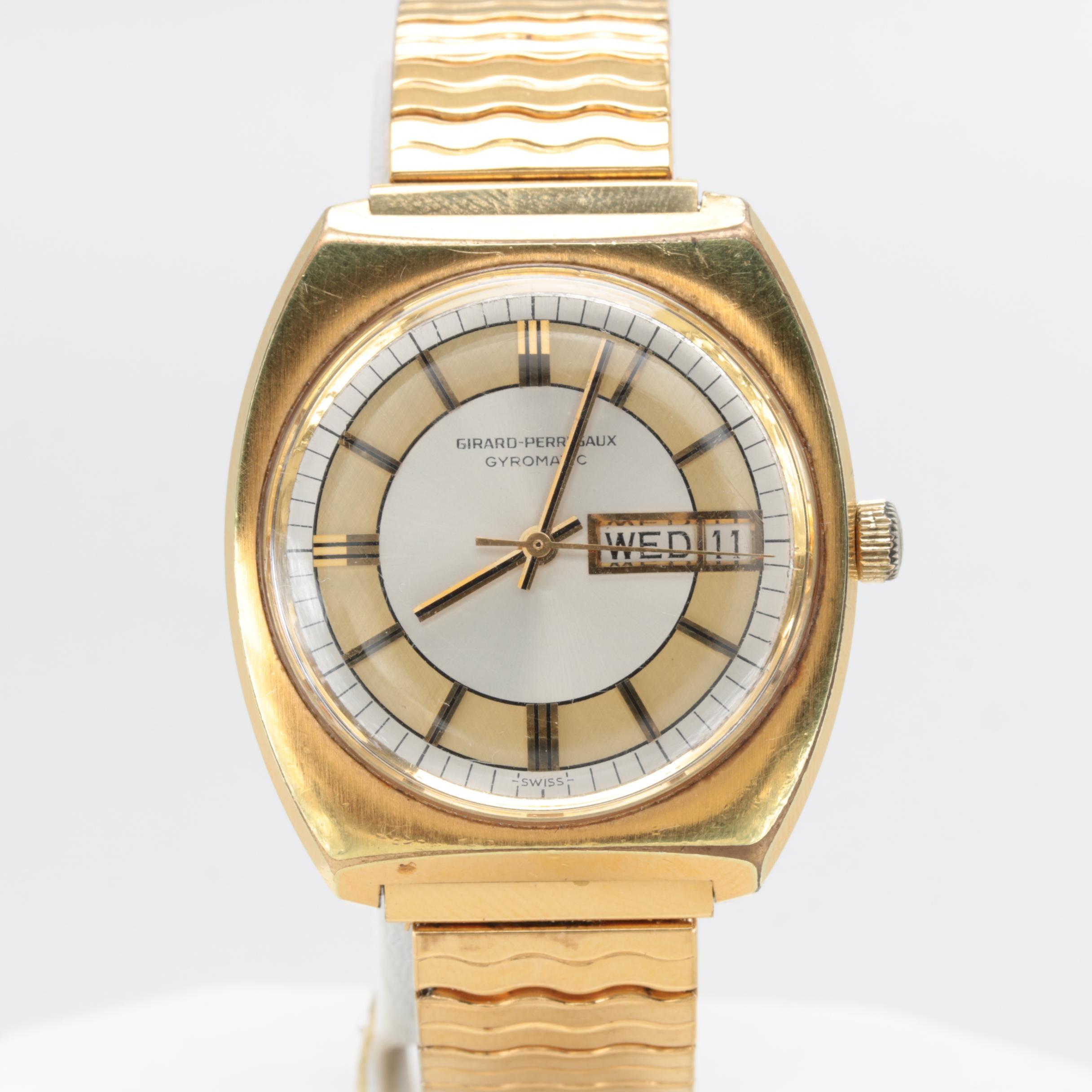 Girard-Perregaux Gyromatic Gold Tone Wristwatch