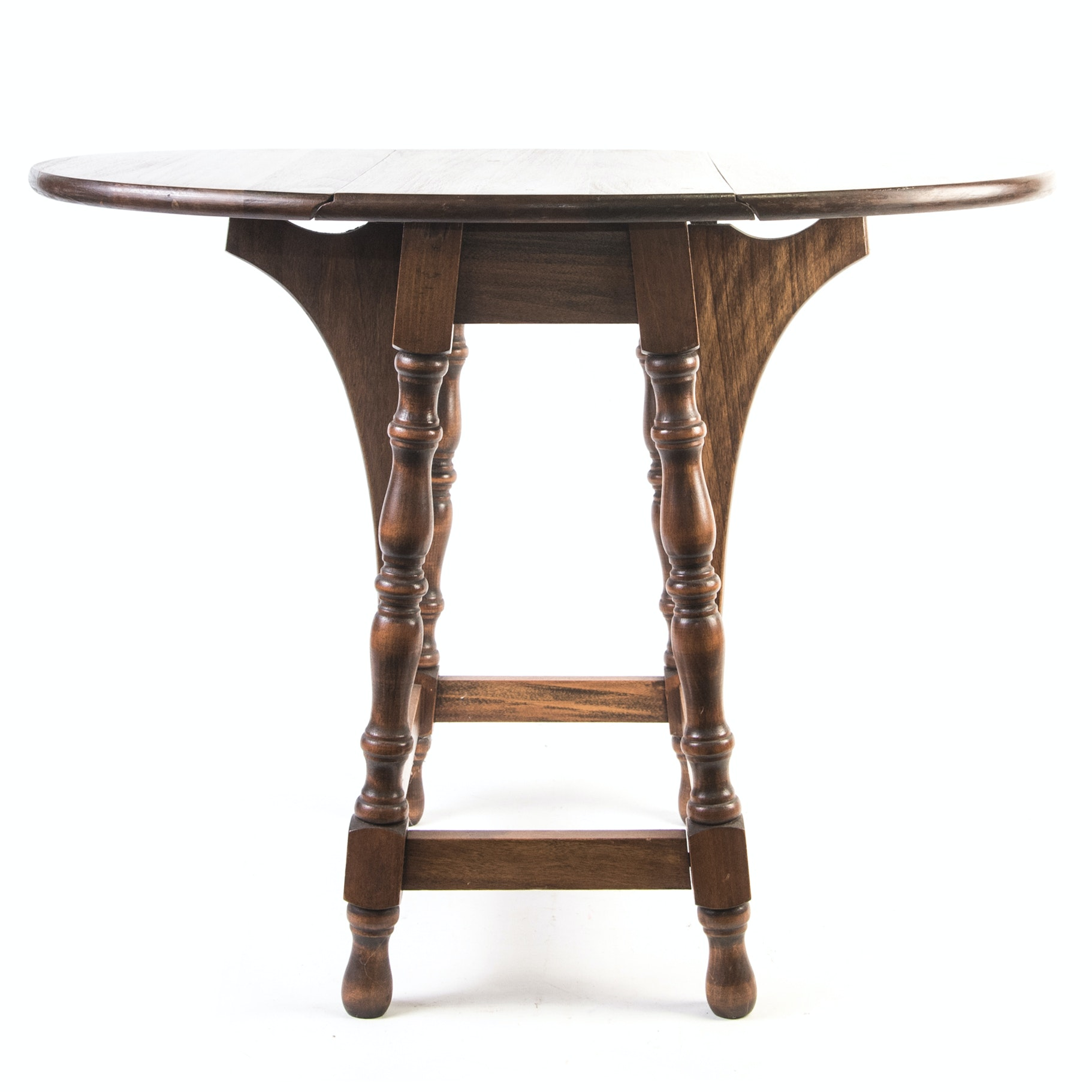 Diminutive Walnut William and Mary Revival Drop Leaf Table