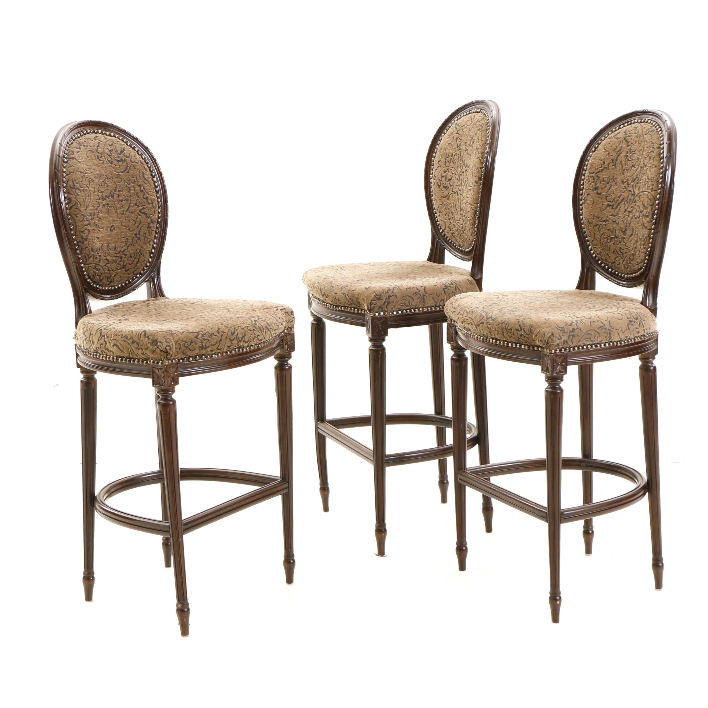 Three Contemporary Upholstered Bar Chairs ...