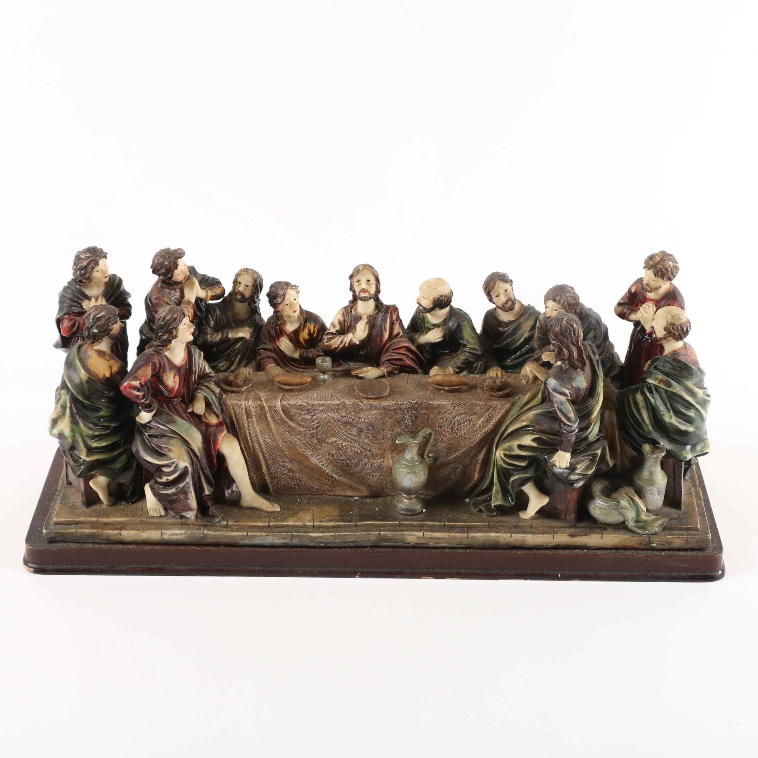 "Resin Figurine of ""The Last Supper"""