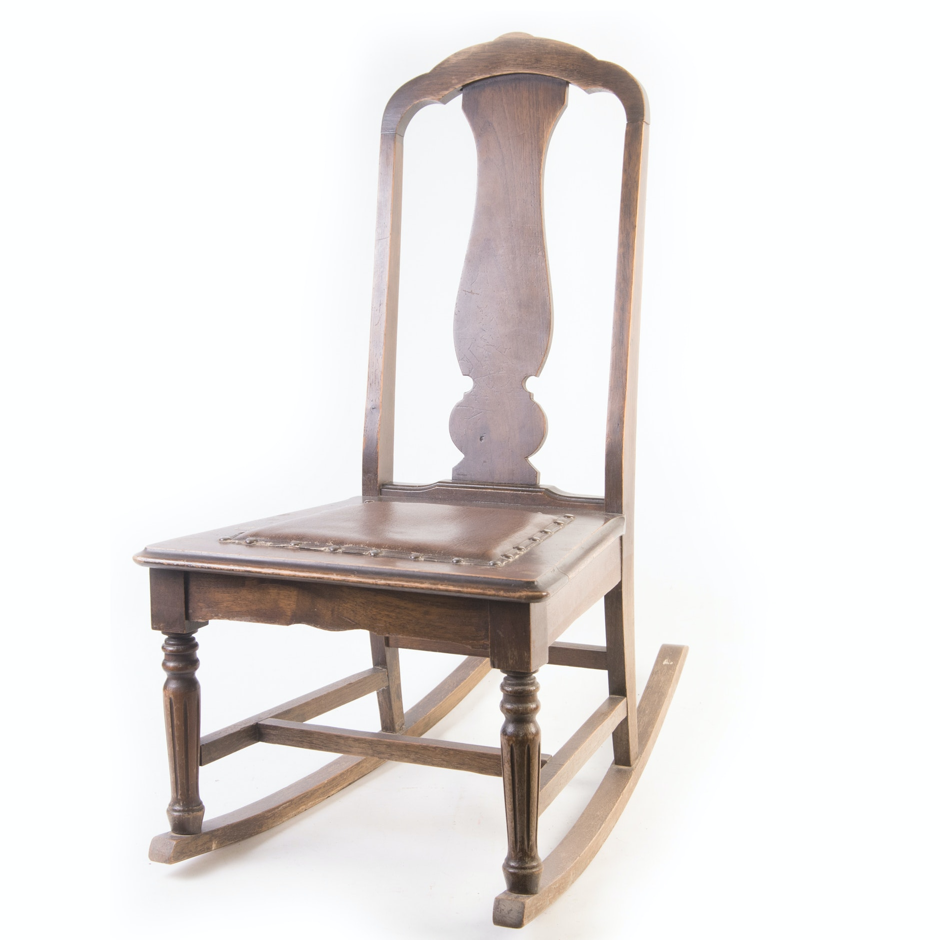Walnut Ladies Sewing Rocker