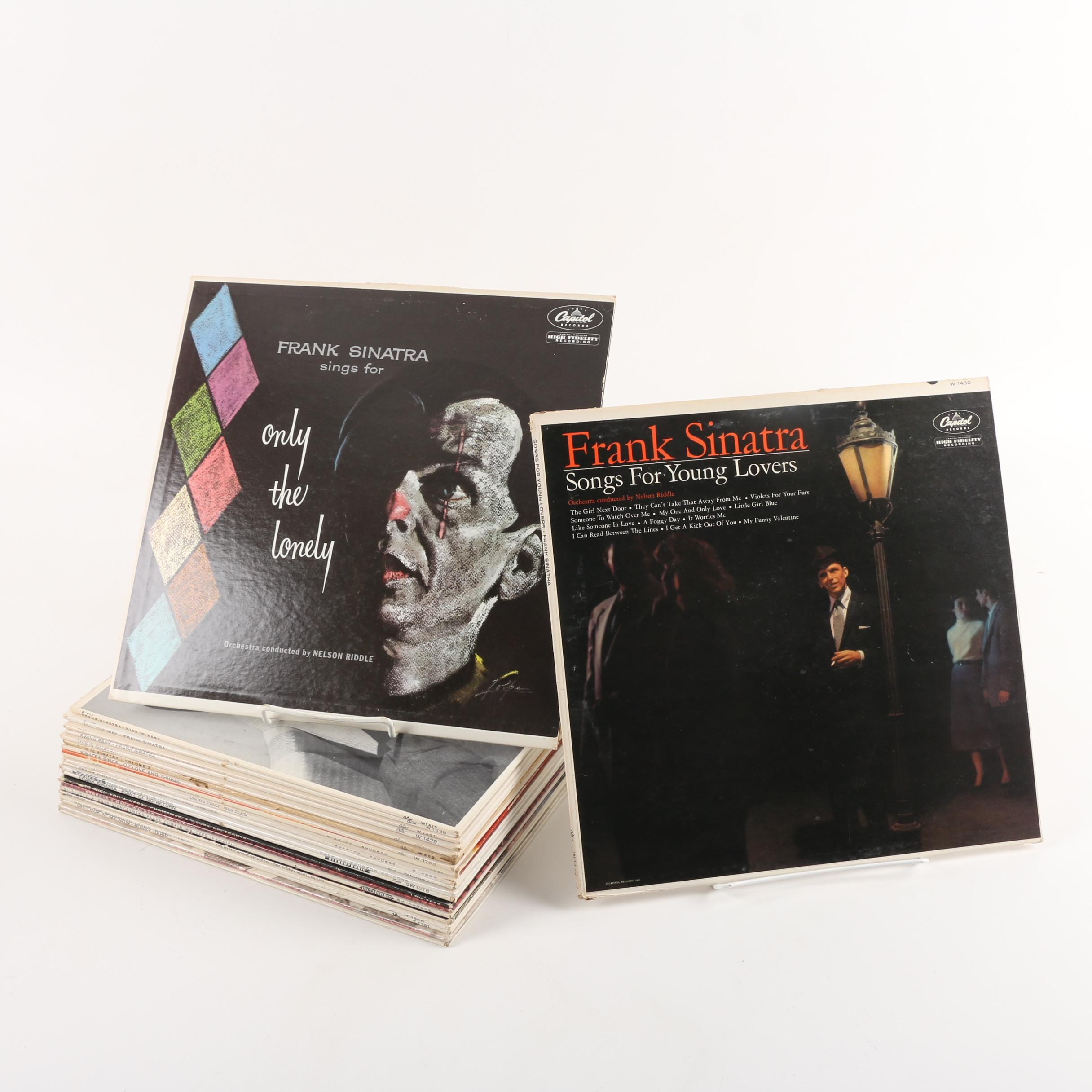 Frank Sinatra, Harry Belafonte and Other Easy Listening LP Records