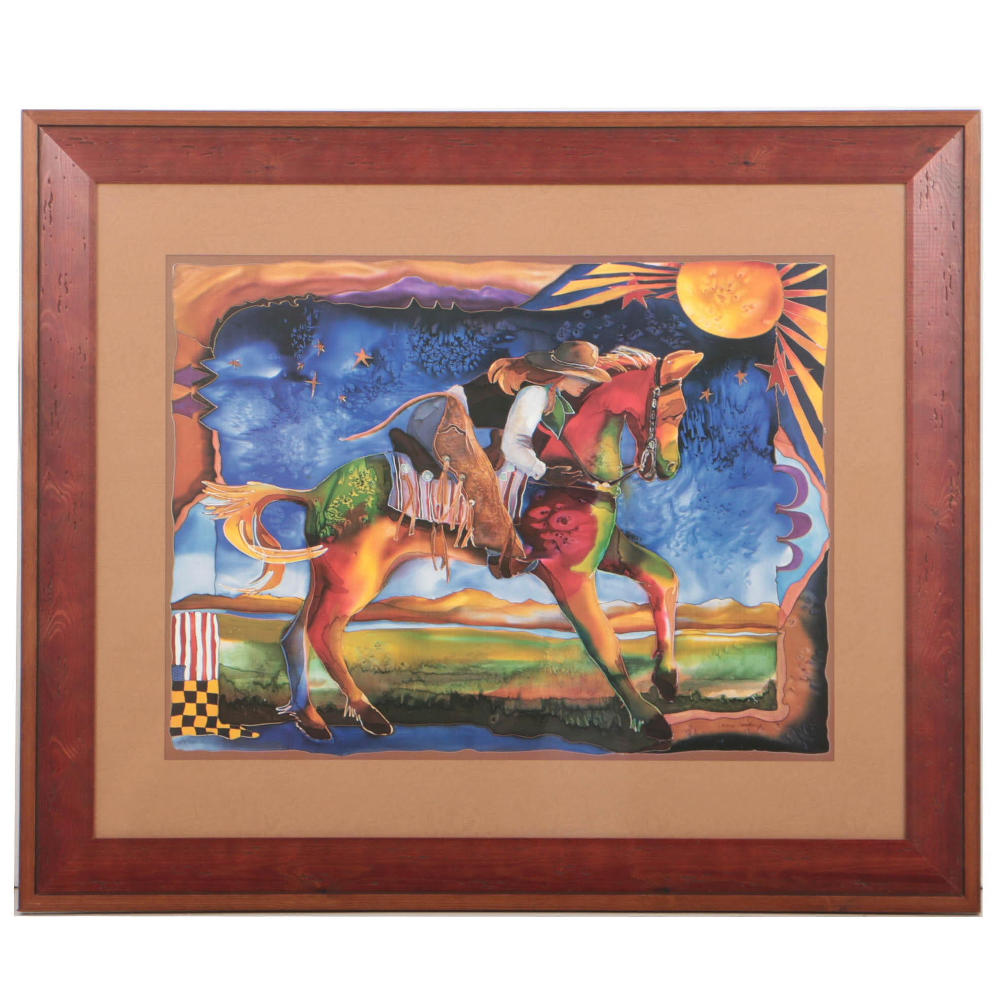 """Nancy Cawdrey Limited Edition Offset Lithograph """"Horse Whisperer"""""""