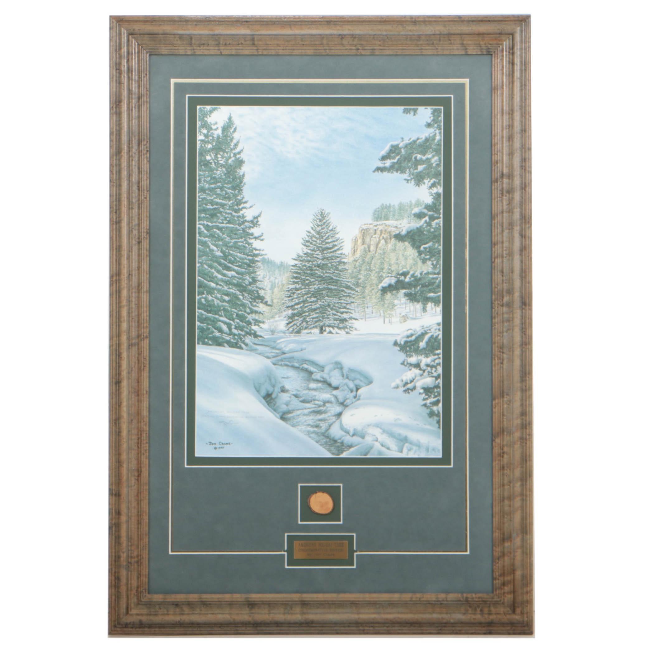 "Jon Crane Commemorative Edition Offset Lithograph ""America's Holiday Tree"""