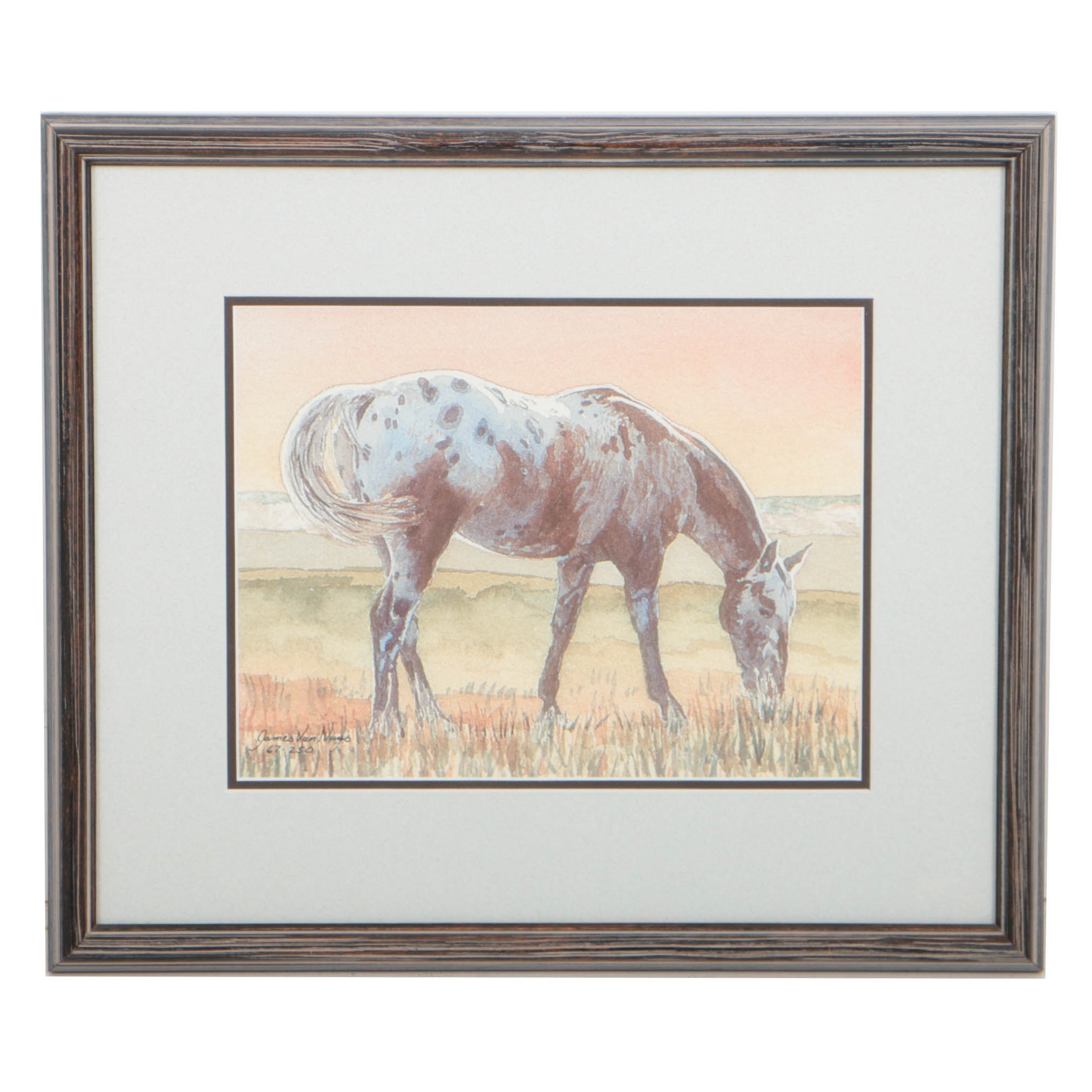 """James Van Nuys Limited Edition Offset Lithograph on Paper """"Appaloosa"""""""