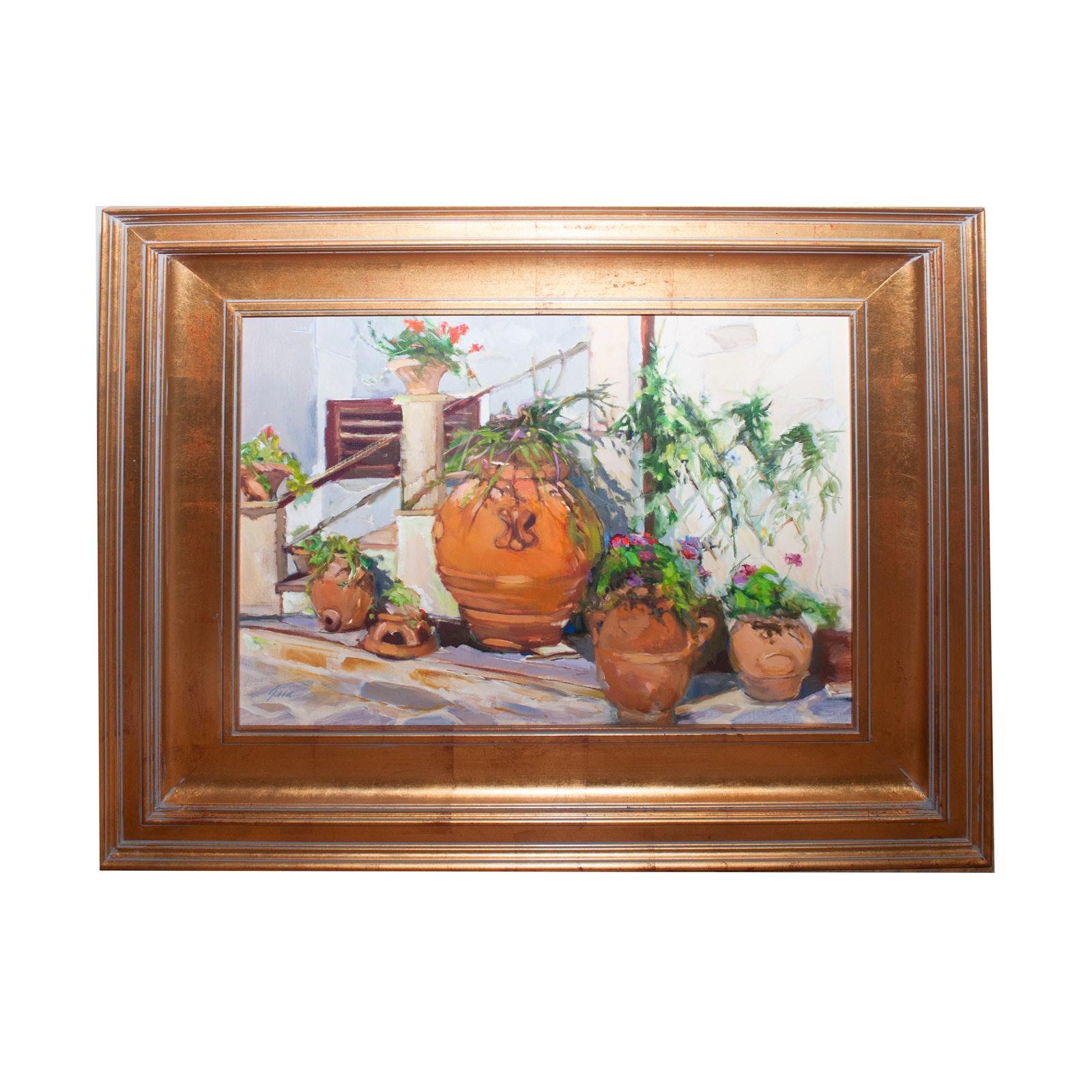 "Gail Morrison Oil Painting ""Angolo Degli Orci"""