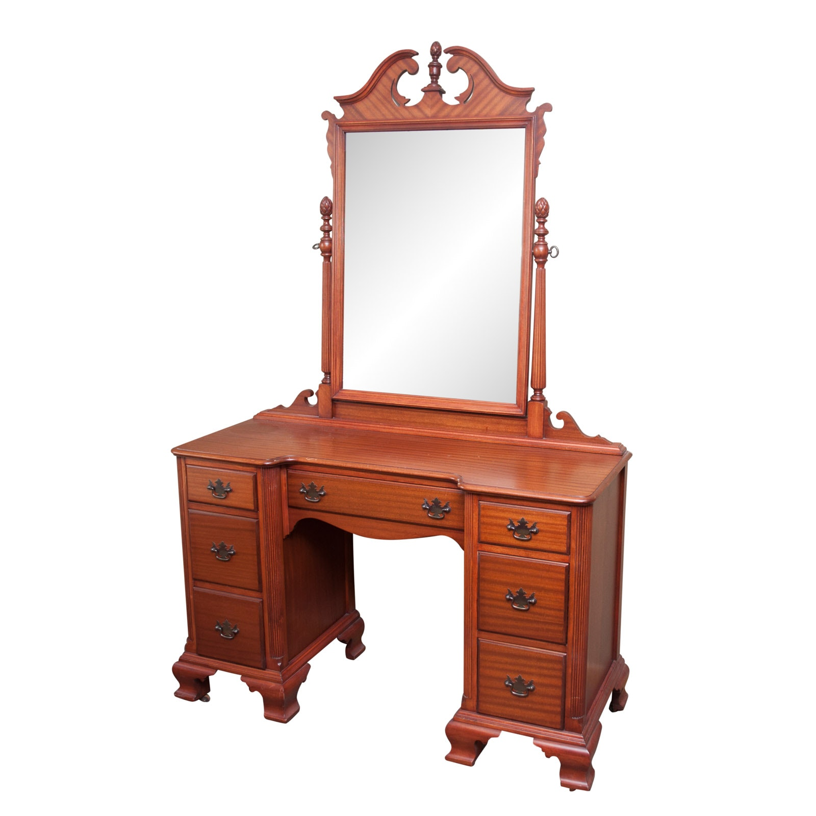 Vintage Mahogany Vanity with Mirror