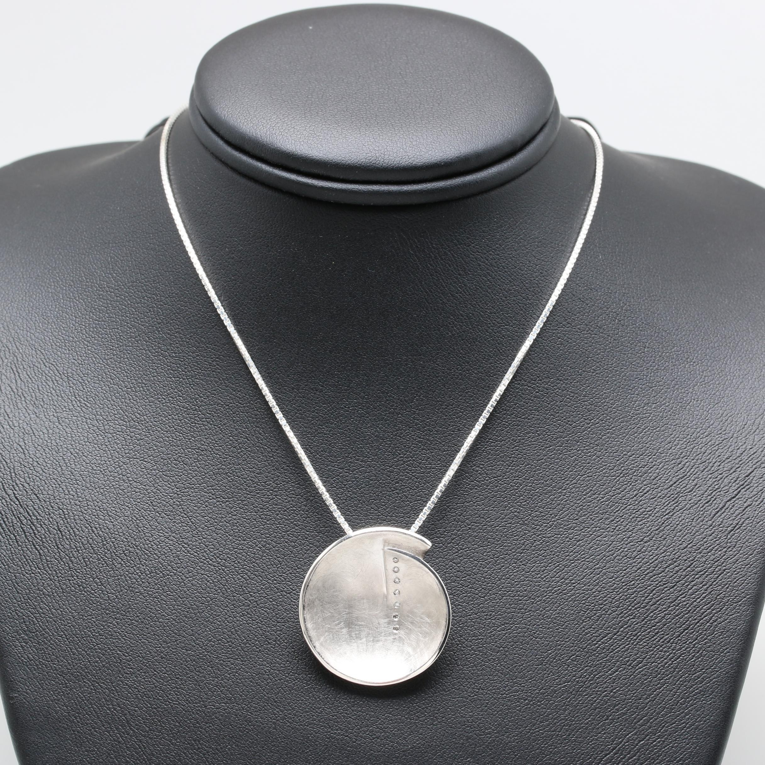 Bastian Sterling Silver Diamond Necklace