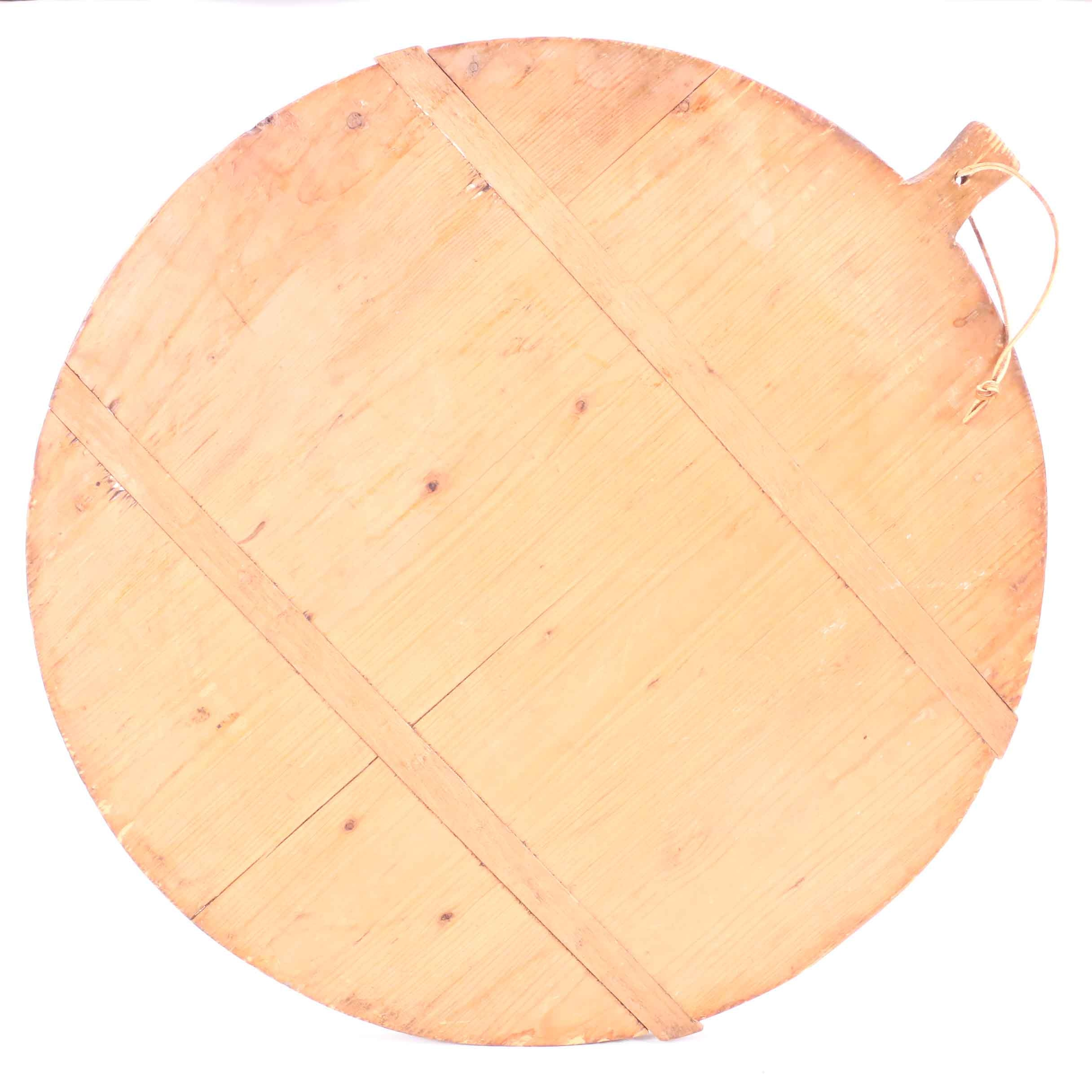 Large Handcrafted Round Wooden Pizza Peel