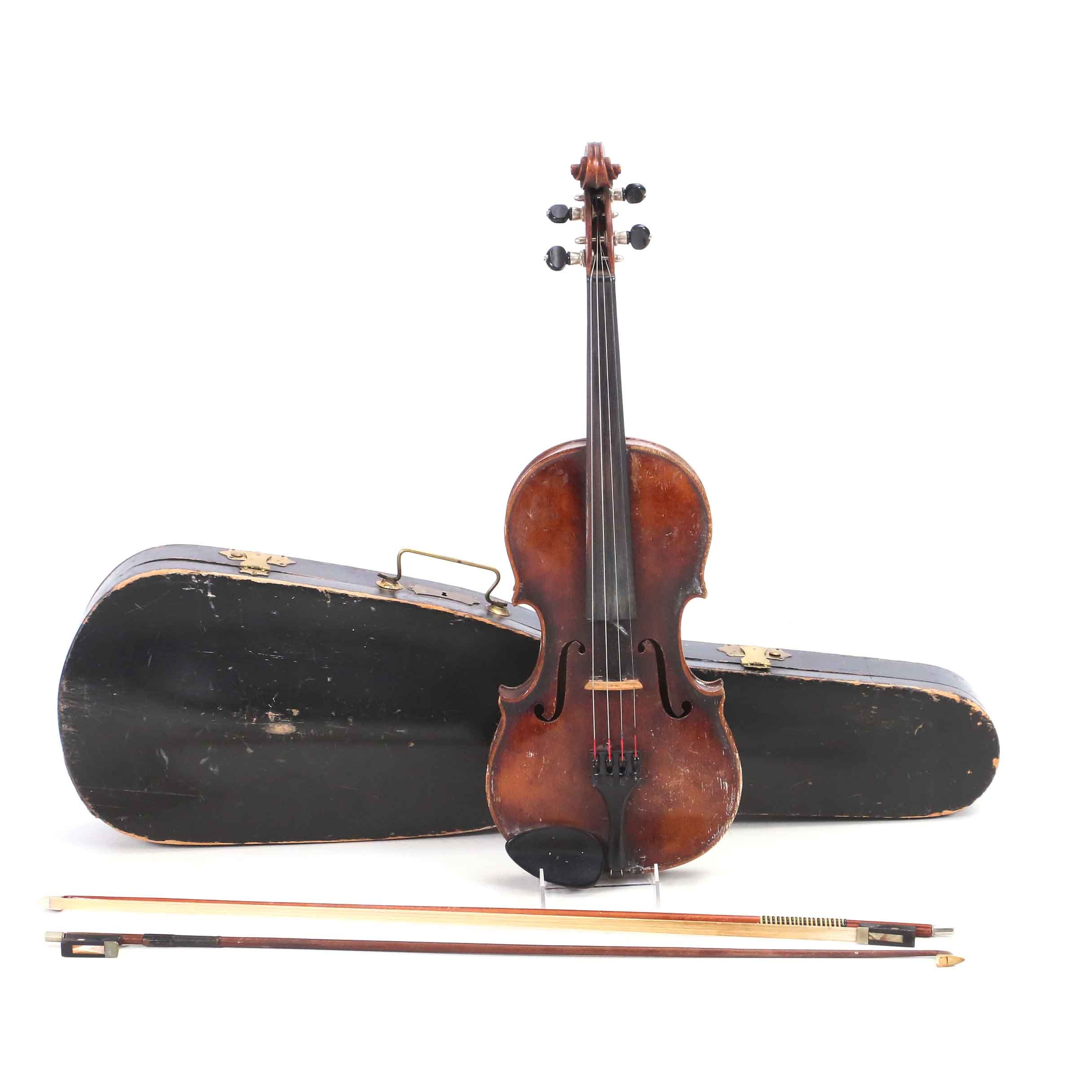 Wilhelm Duerer Violin with Bow and Case
