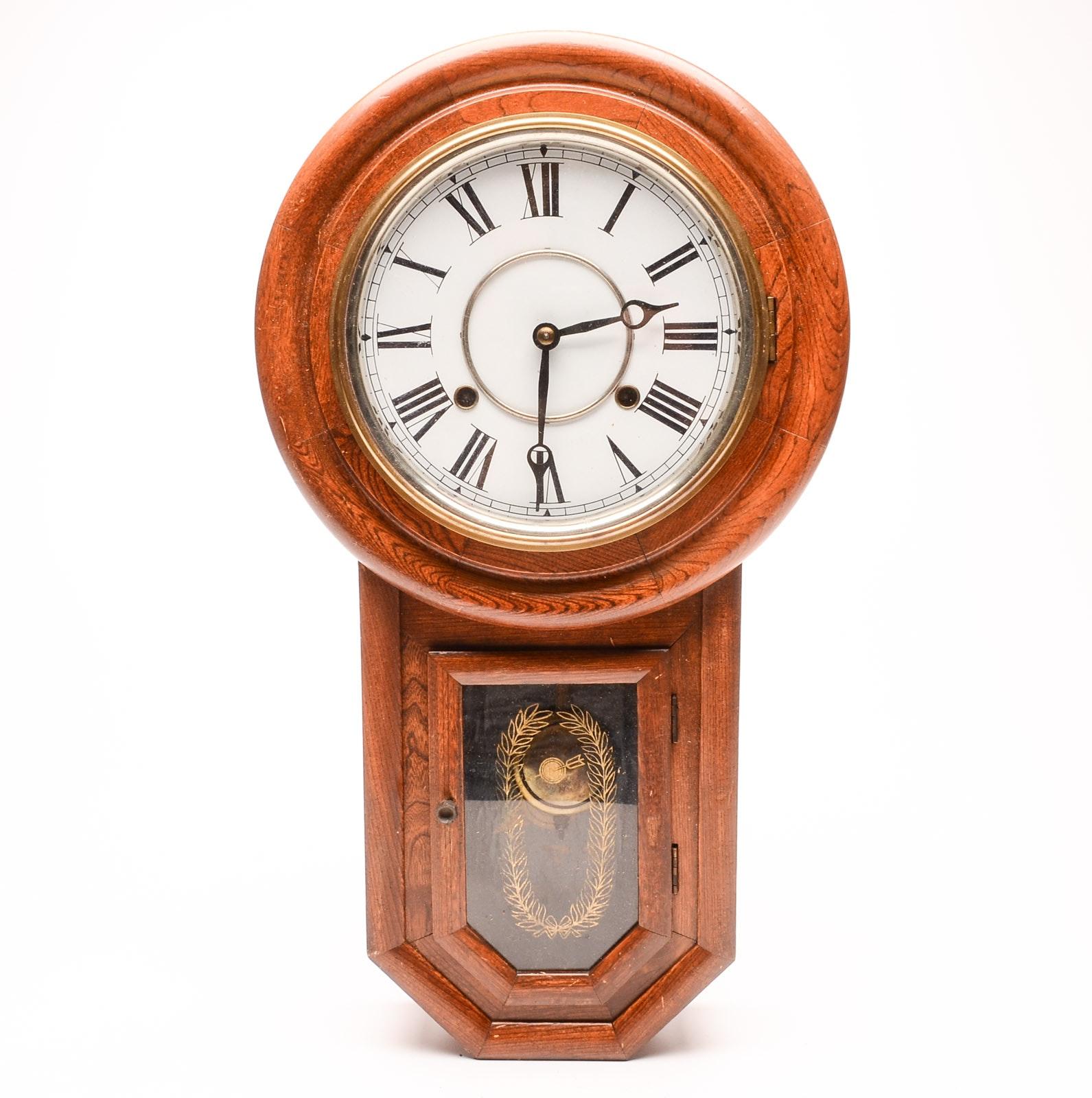 Antique Yamato Wall Clock