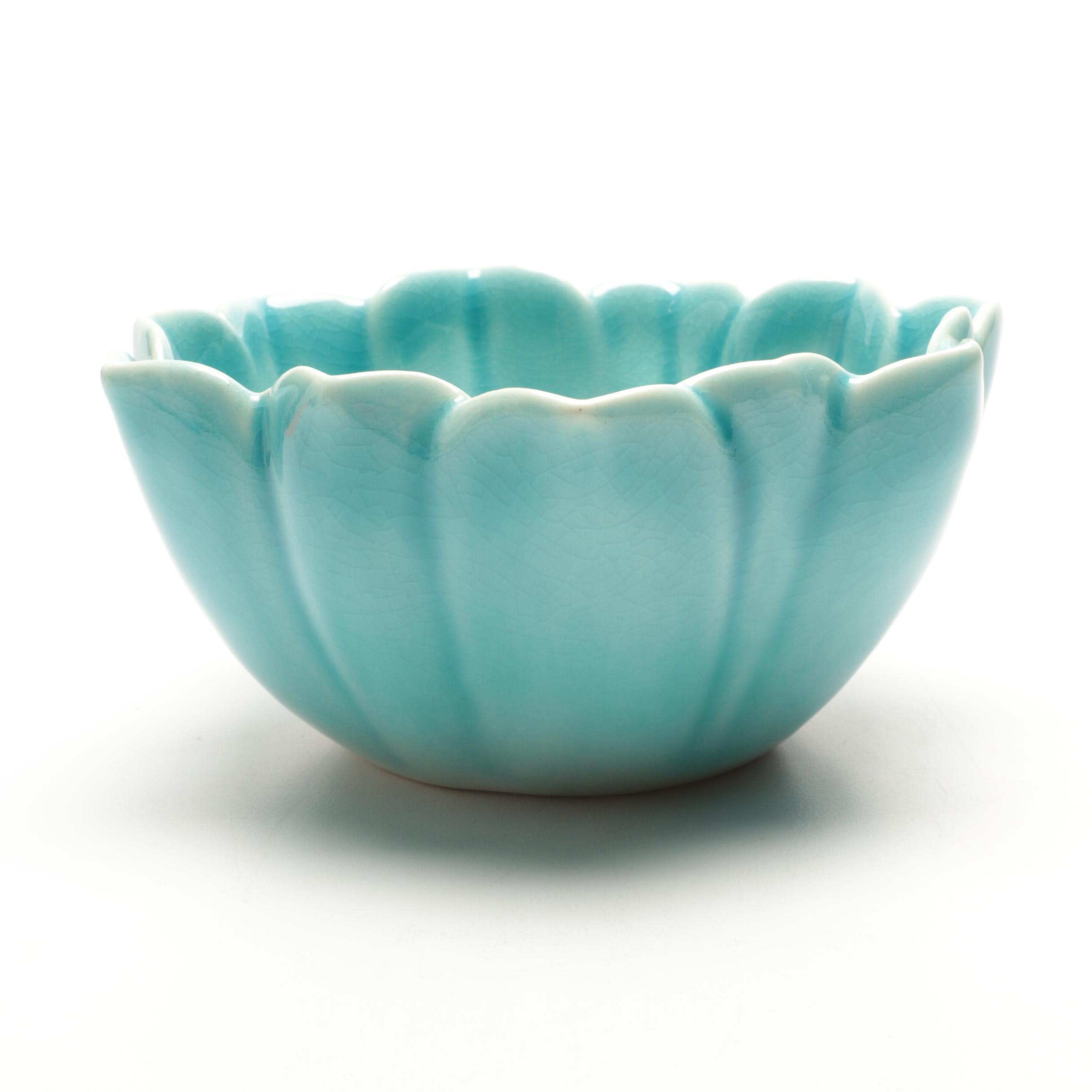 1945 Rookwood Pottery Blue Lotus Bowl