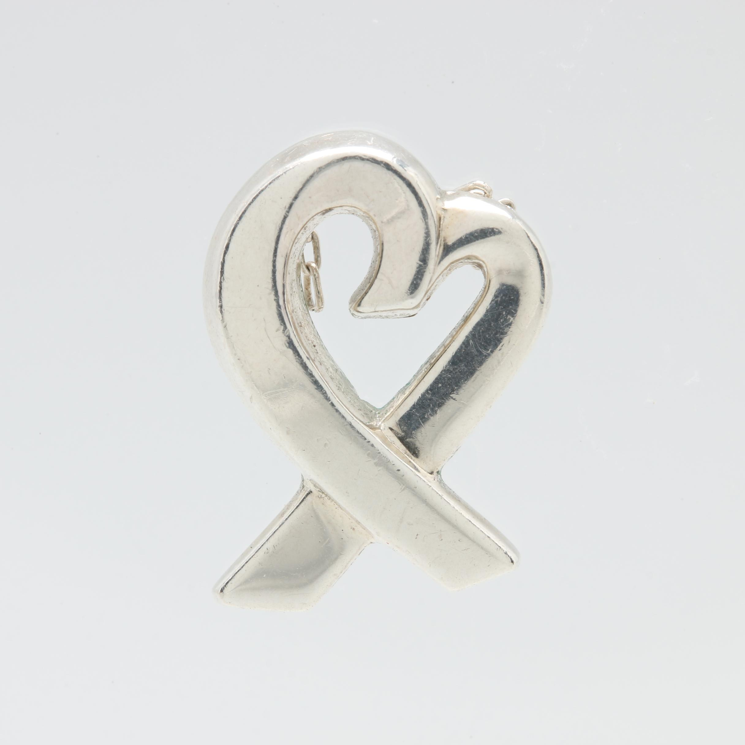 "Paloma Picasso for Tiffany & Co. ""Loving Heart"" Sterling Silver Pendant"