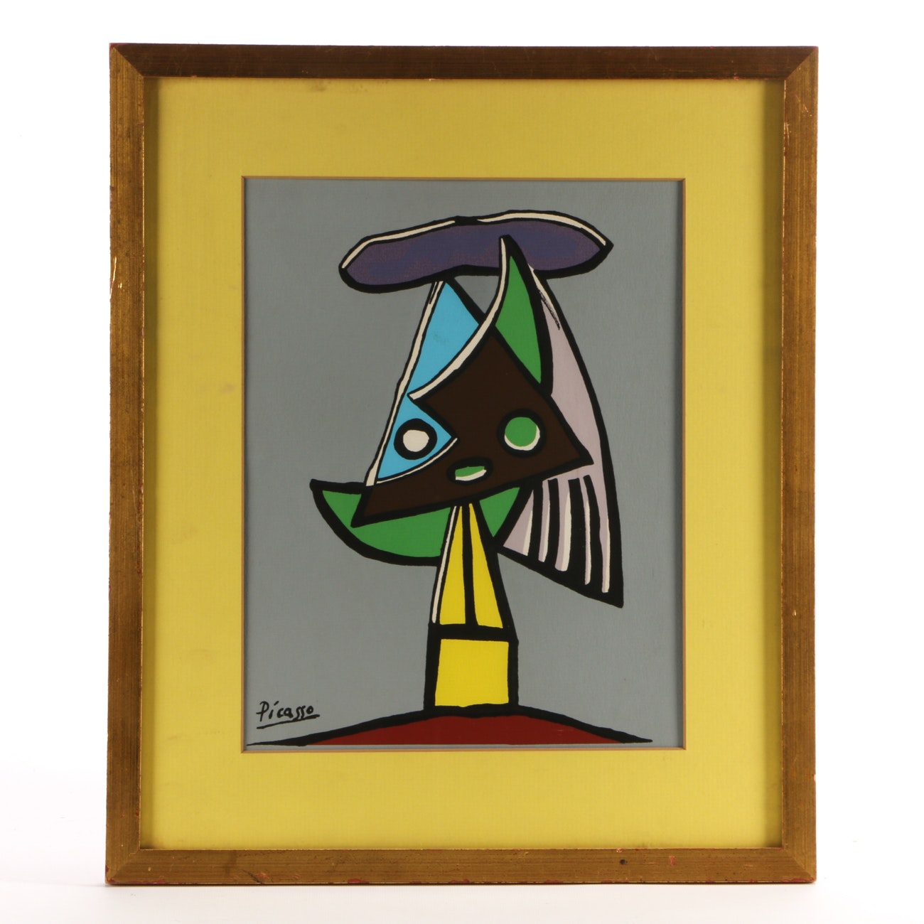 """Serigraph Print after Picasso """"Head of a Woman Olga"""""""