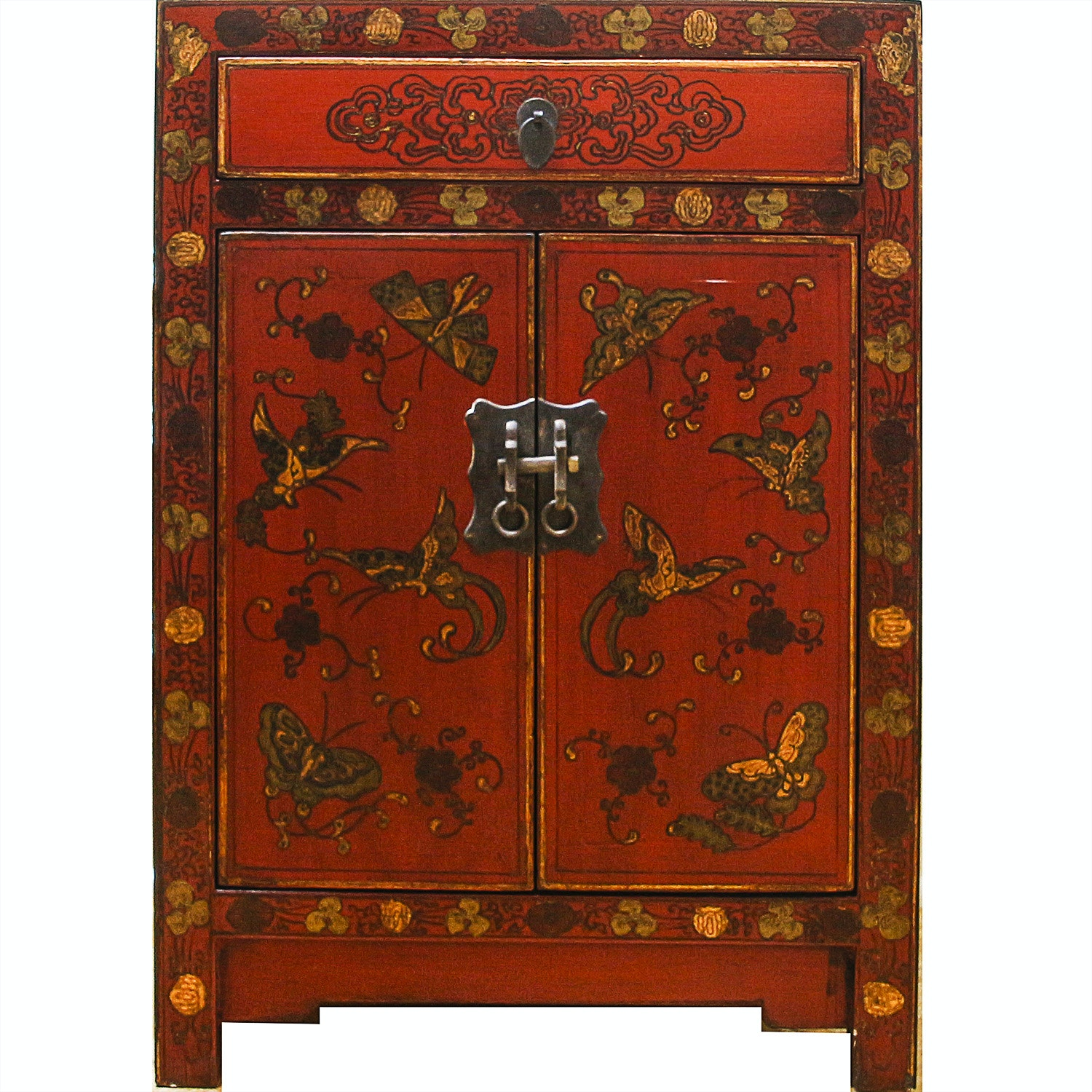 Vintage Chinese Style Painted Cabinet