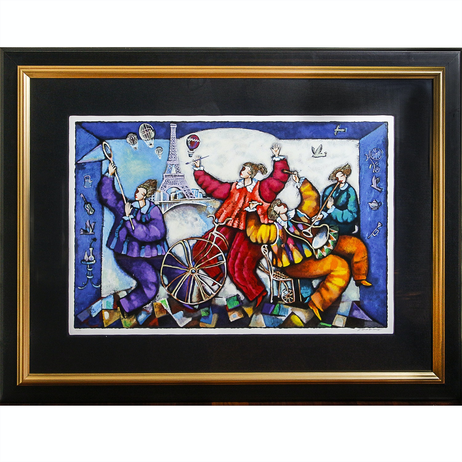 Limited Edition Serigraph of Parisian Circus