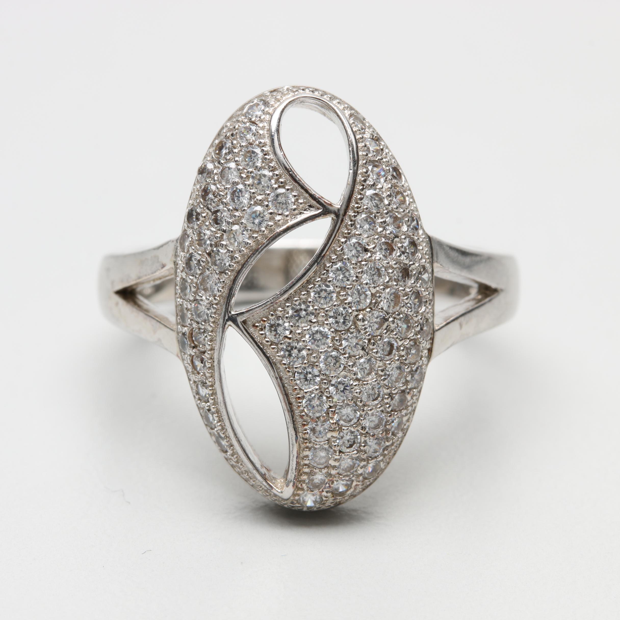 Bianci Sterling Silver Cubic Zirconia Ring