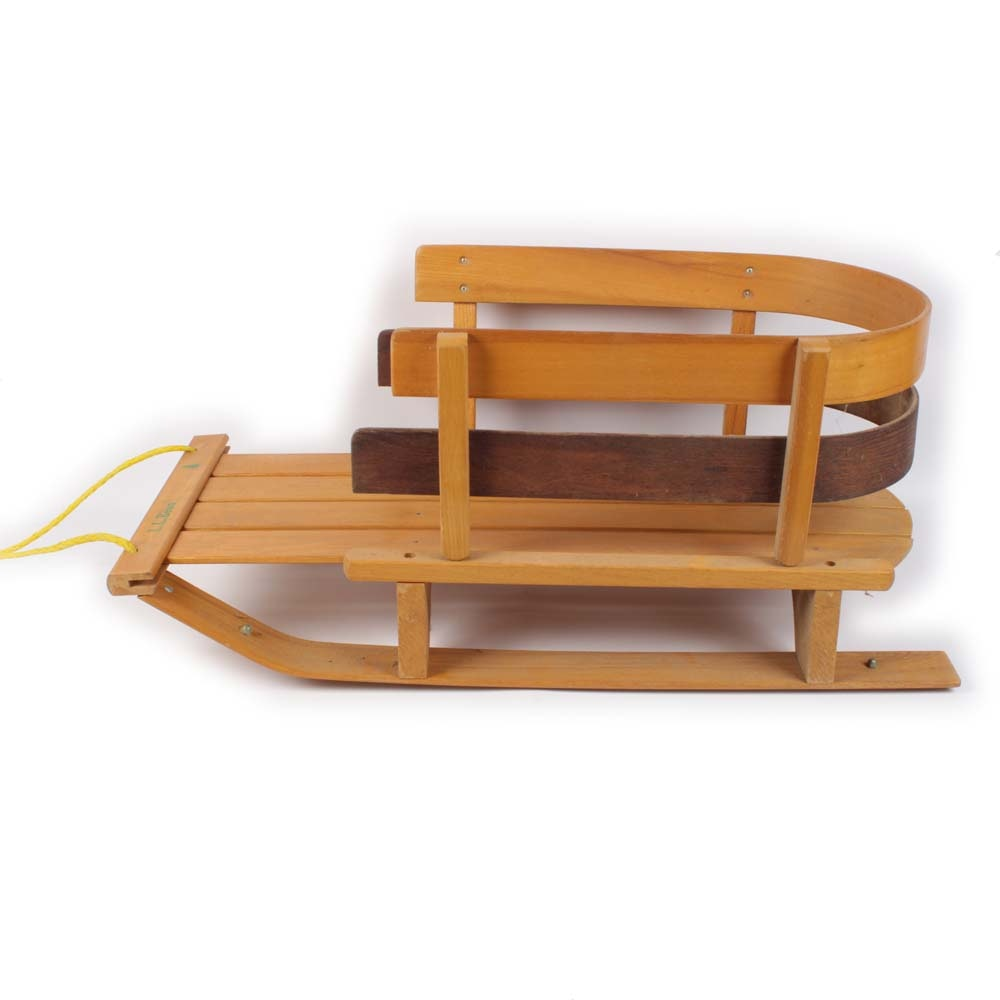L.L. Bean Child's Pull Handled Sled