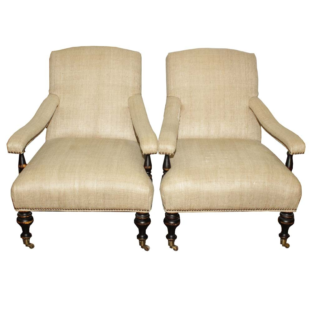 Warner York Home Signature Upholstered Arm Chairs