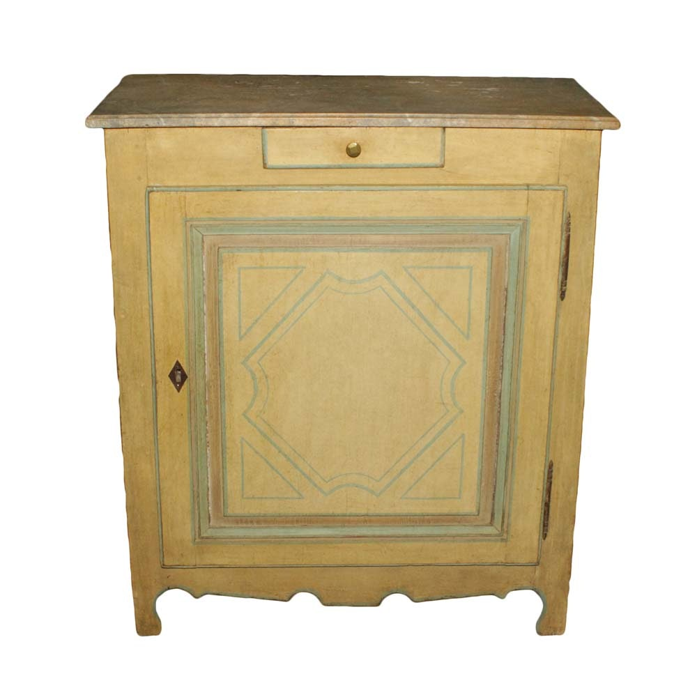 Vintage Farmhouse Style Painted Cupboard