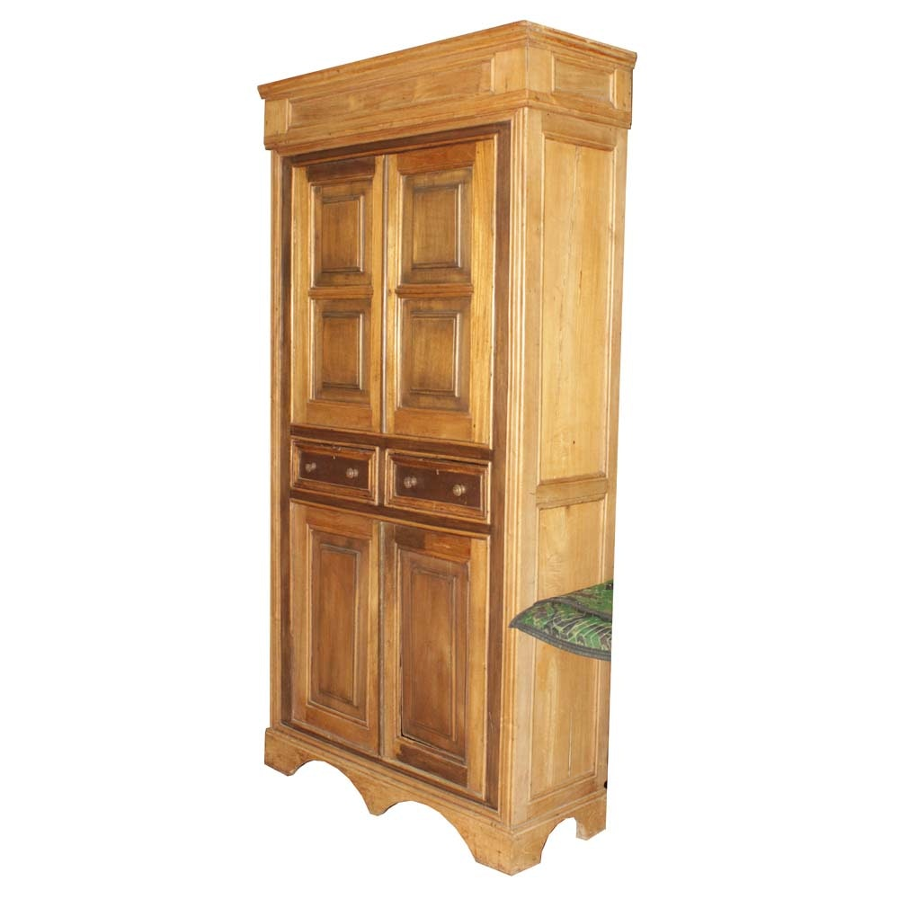 Late 19th C. Mixed Wood Flatwall Cupboard