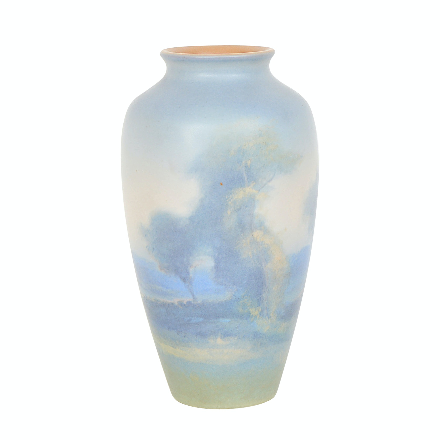 1930 Fred Rothenbusch Rookwood Pottery Scenic Vellum Vase