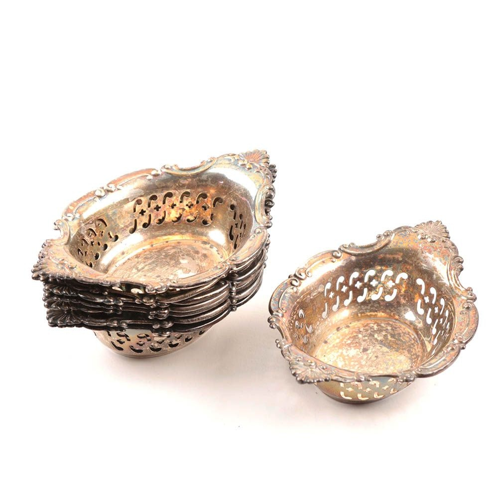 """Gorham """"Cromwell"""" Pierced Sterling Silver Nut Dishes"""