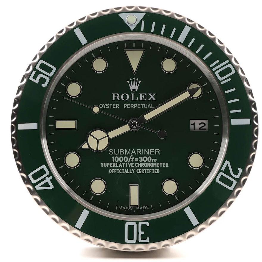 Rolex Quot Submariner Quot Dealer Wall Clock Ebth