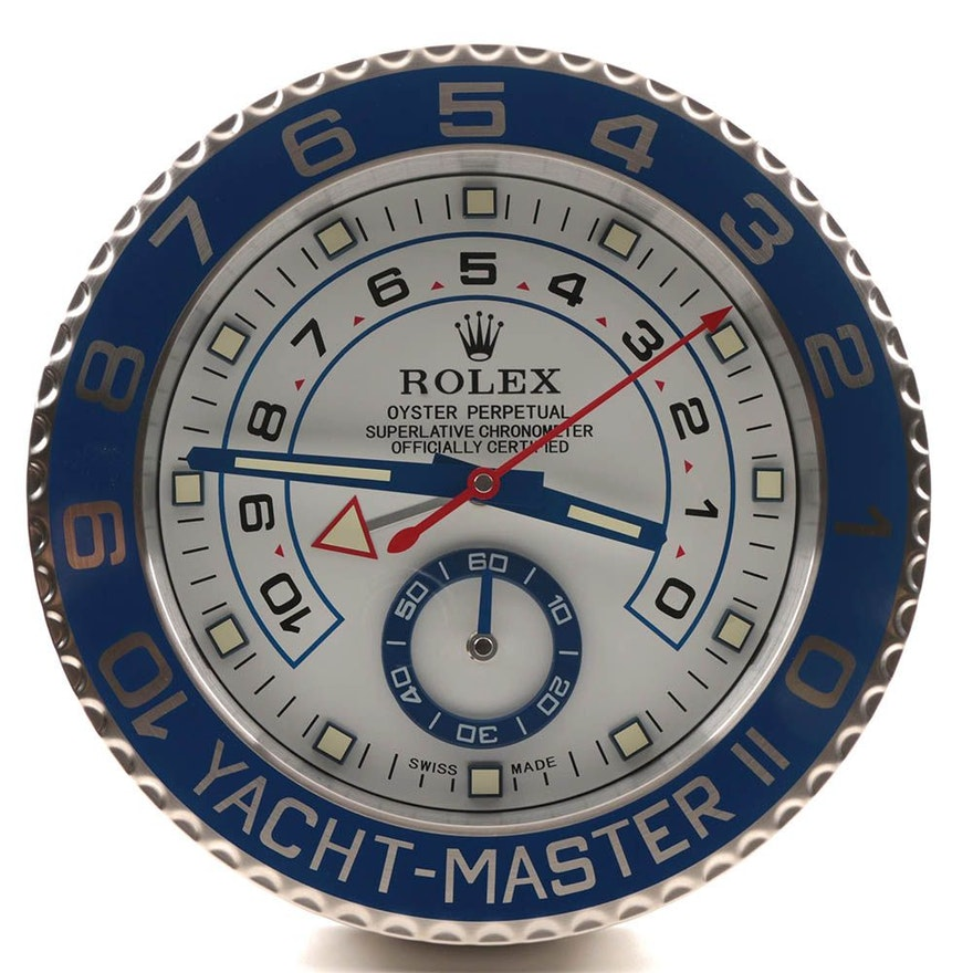 Rolex Quot Yacht Master Ii Quot Dealer Wall Clock Ebth