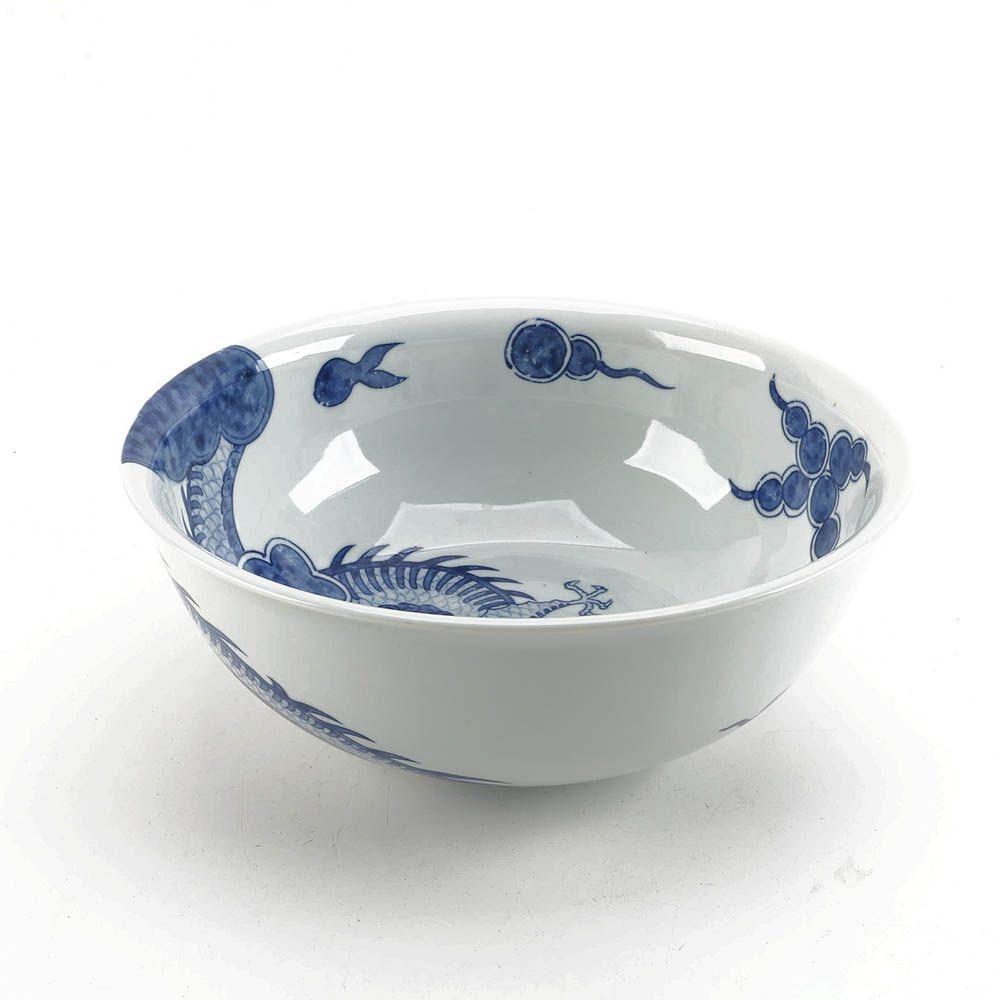 "Andrea by Sadek ""Blue Dragon"" Winterthur Adaptation Porcelain Serving Bowl"