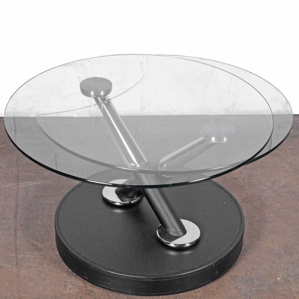 Modern Adjustable Glass Top Coffee Table