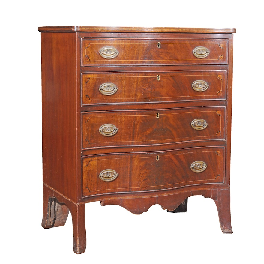 b491695734851 Antique Hepplewhite Mahogany Chest of Drawers   EBTH