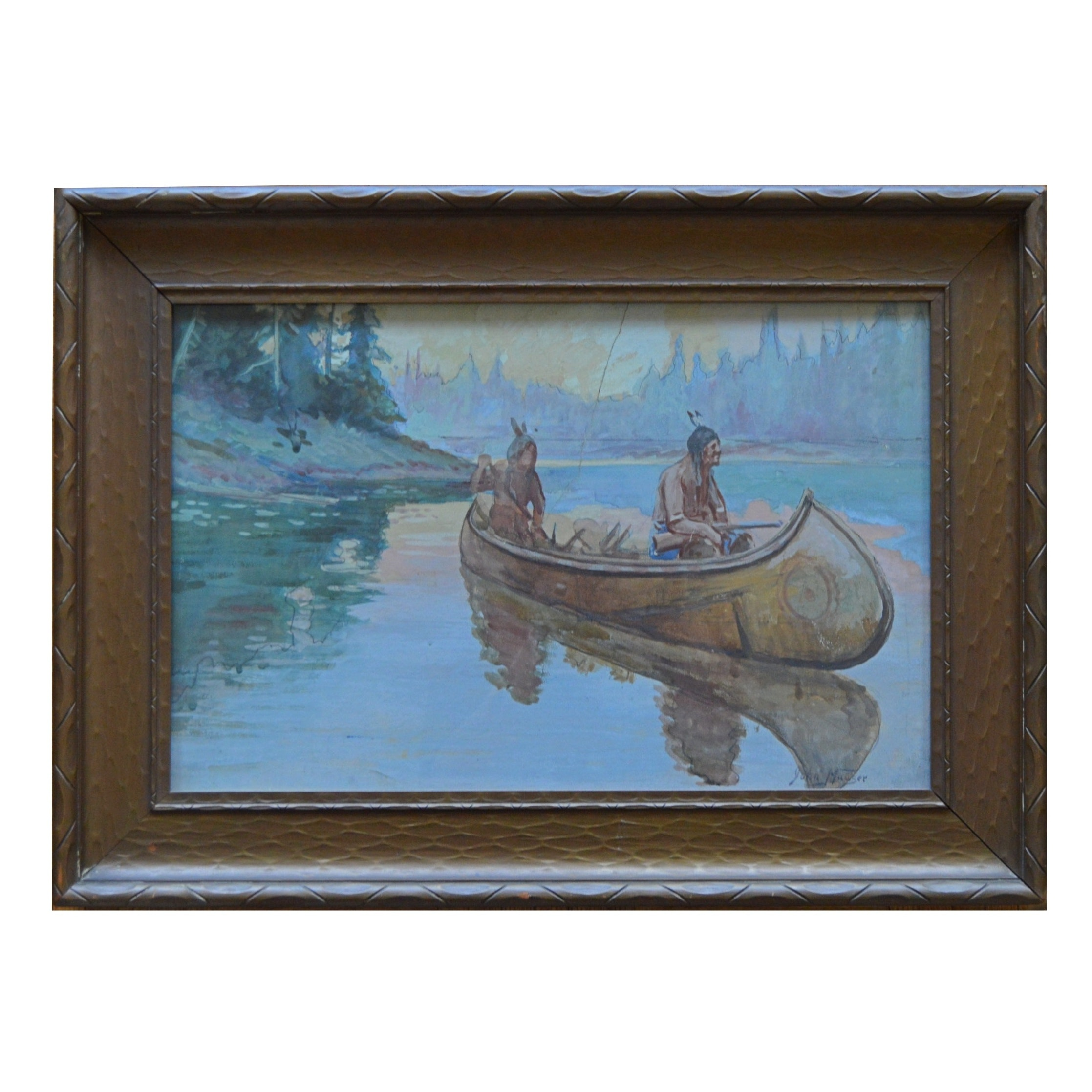 John Hauser Watercolor Painting