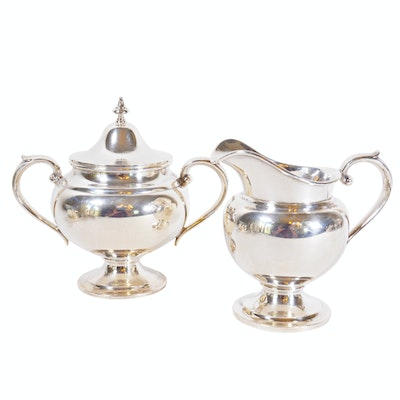 "Gorham ""Puritan"" Sterling Silver Cream and Sugar"