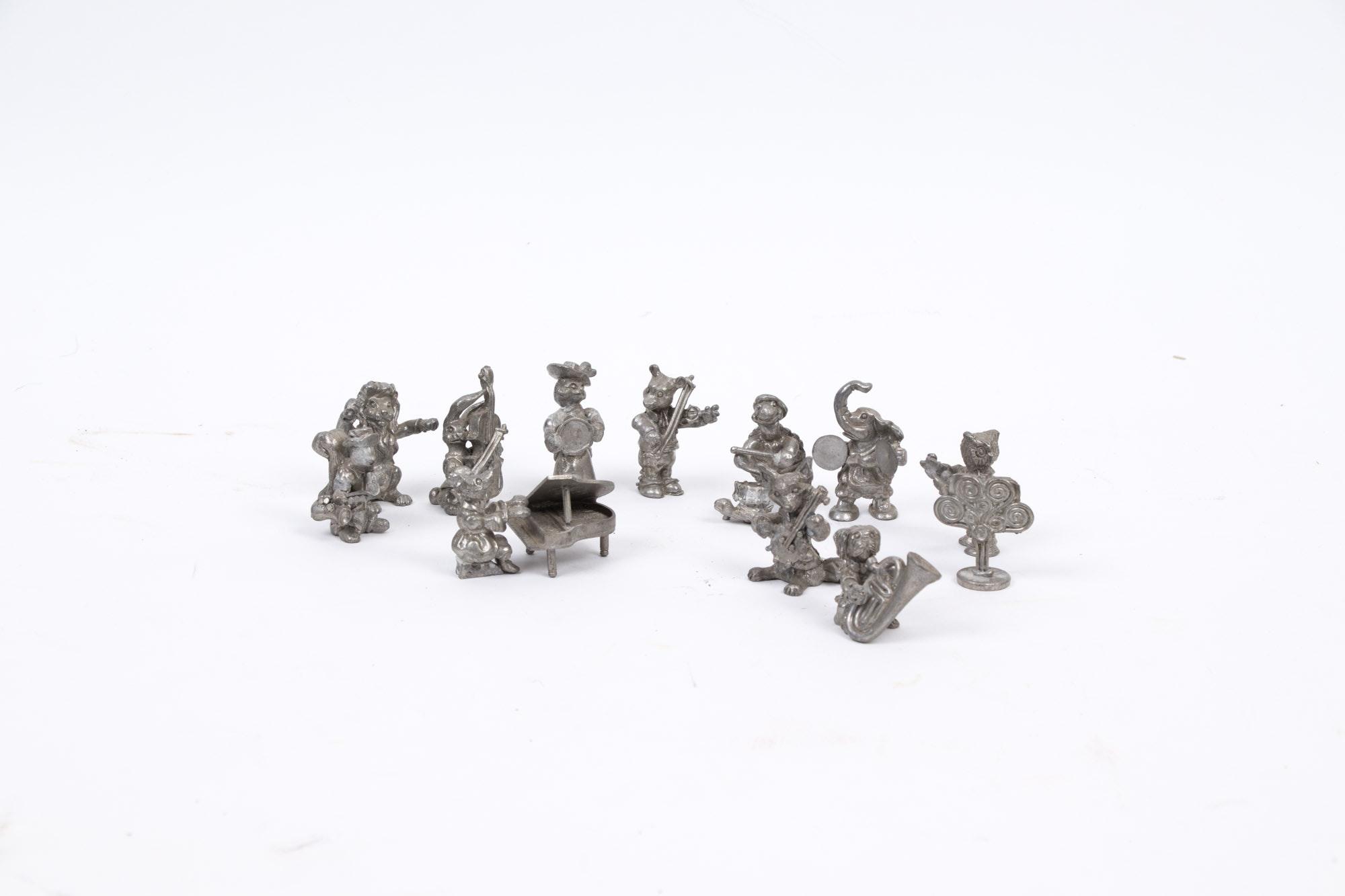 Pewter Animal Figurines