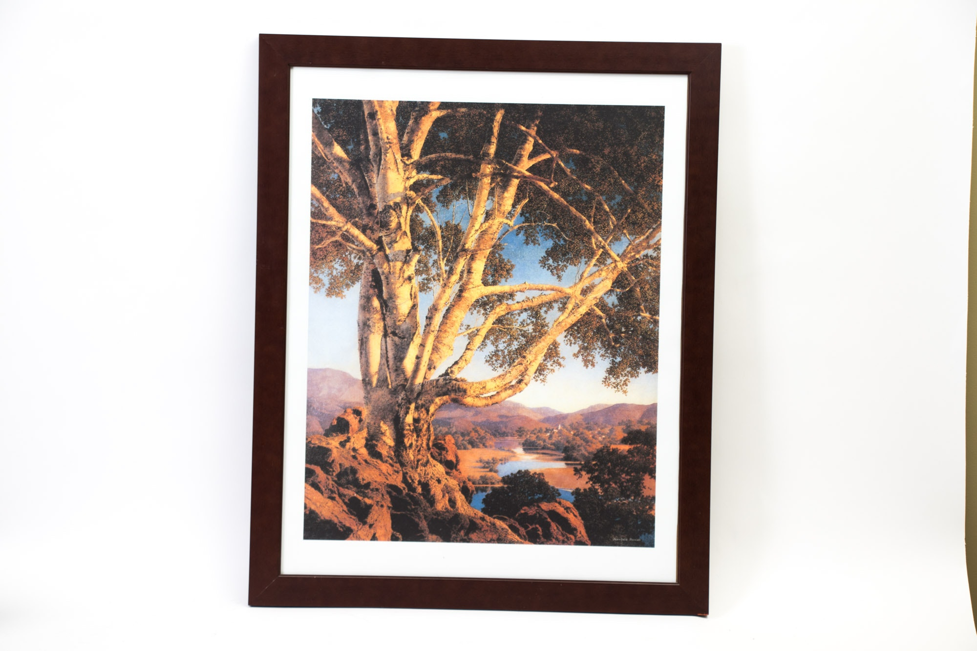 Framed Vintage Maxfield Parrish Lithographic Poster
