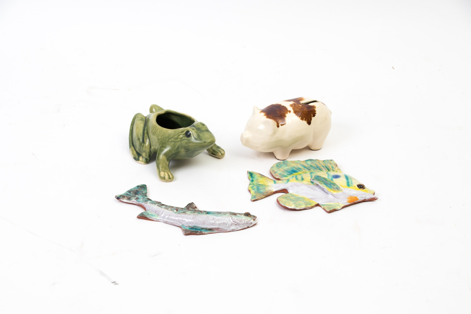 Assortment of Animal Themed Ceramic Decorations