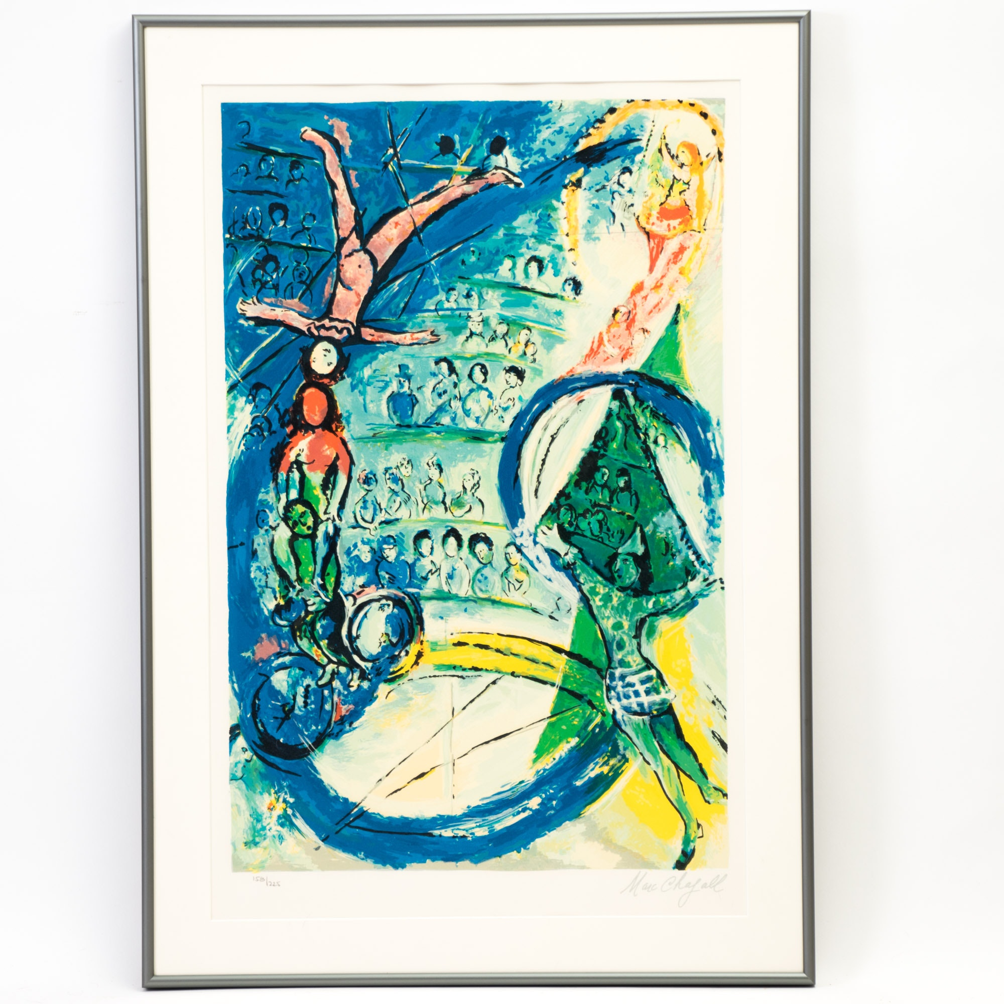 "Lithograph after Marc Chagall ""The Circus Musician"""