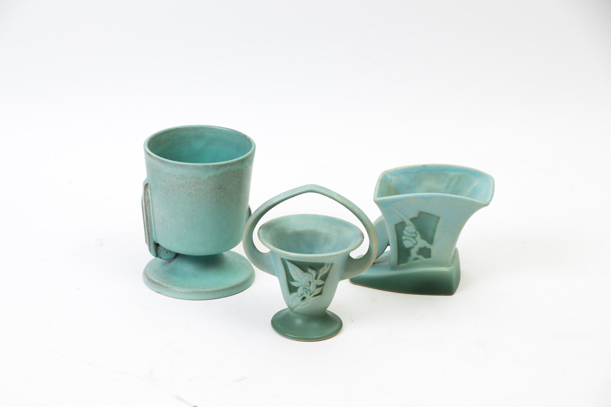 "Roseville ""Silhouette"" and ""Moderne"" Pattern Vases"