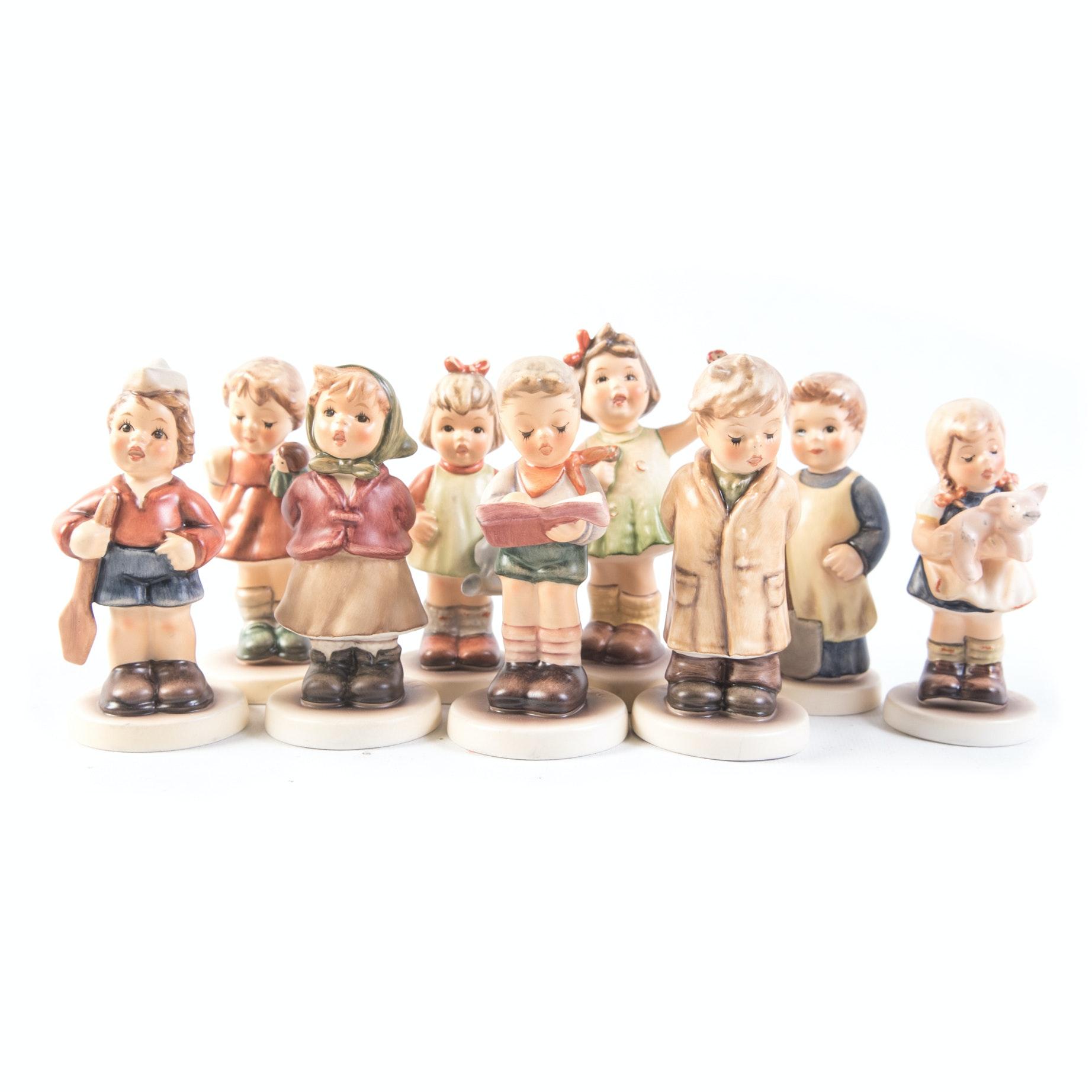 Nine Hummel Figurines