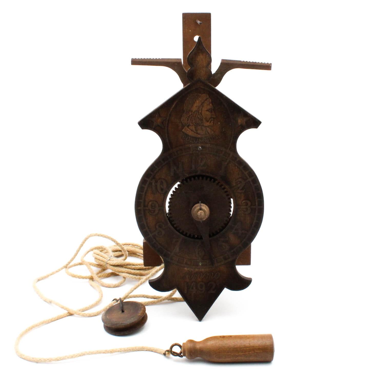 Antique Columbus Anno Wall Clock