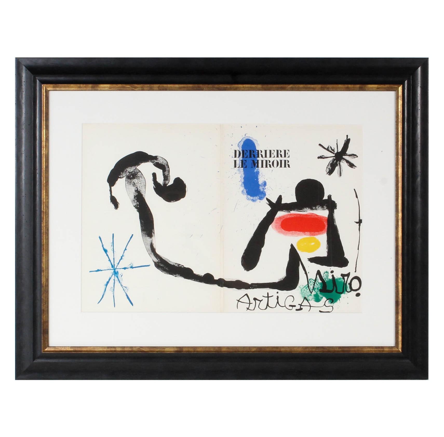 """Joan Miró 1963 Lithograph for """"Derrière le Miroir, No. 139 - 140"""""""